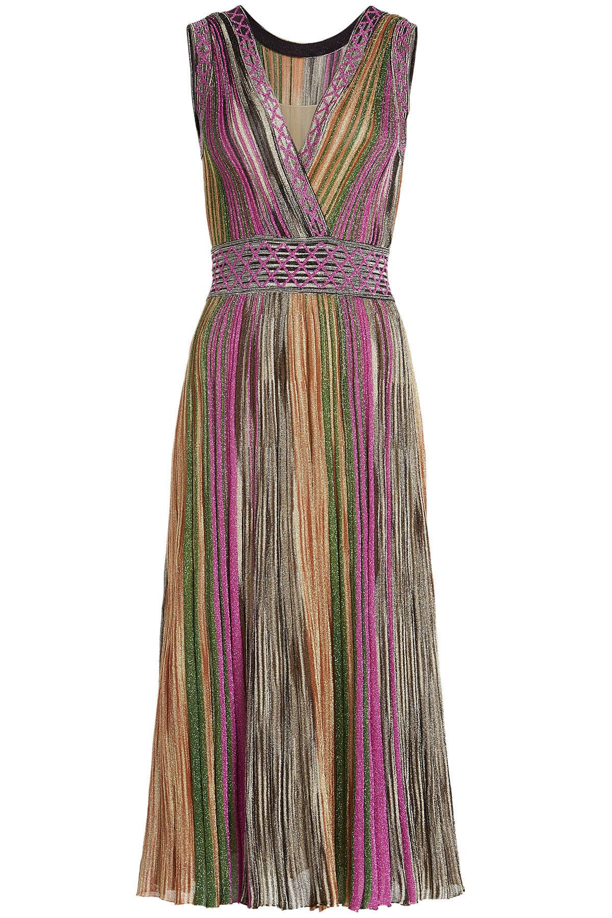 72c323c8a9d28 Missoni V-neck Dress With Metallic Thread - Lyst
