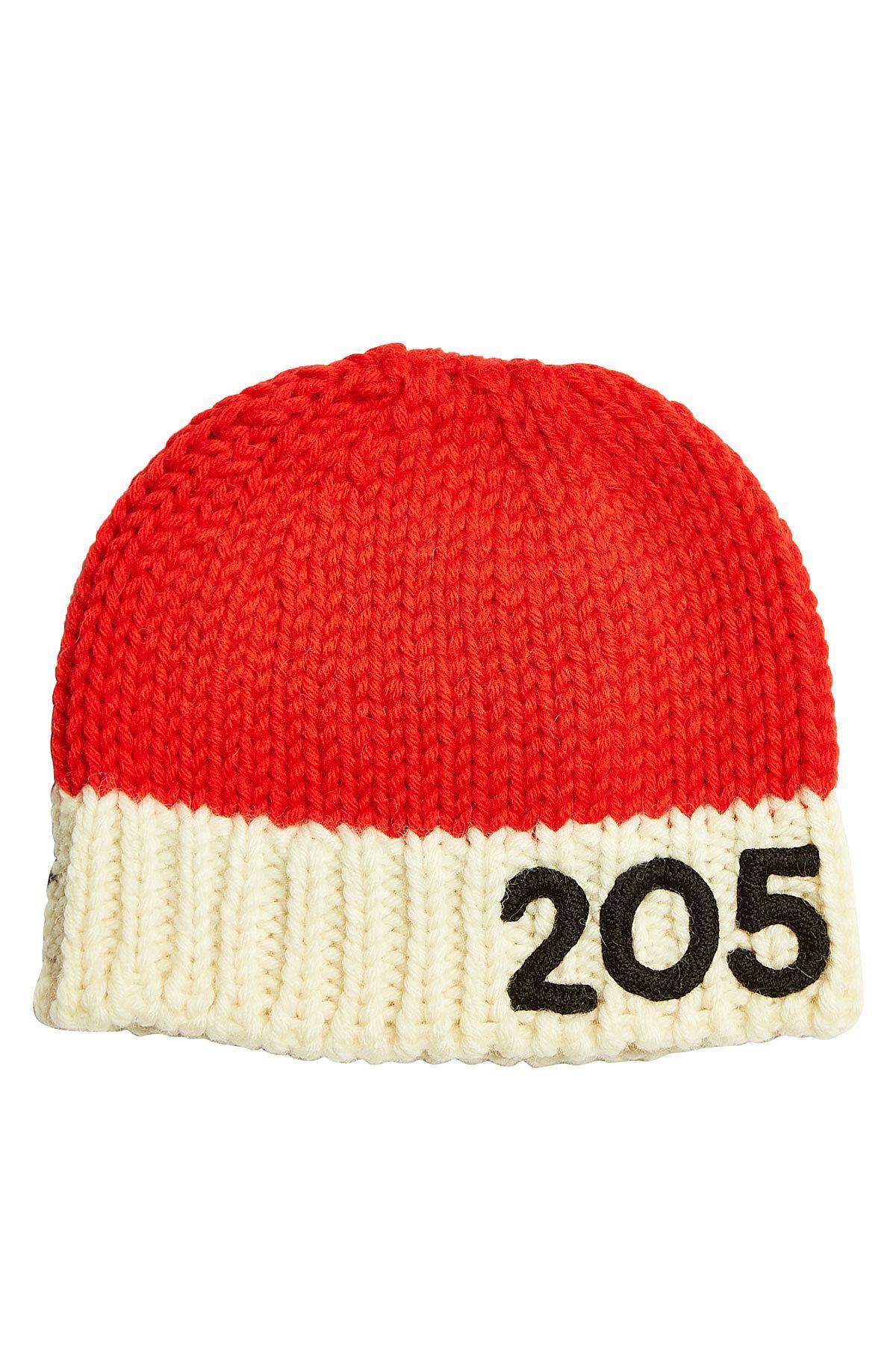 686cb420 Lyst - CALVIN KLEIN 205W39NYC Wool Hat in Red for Men