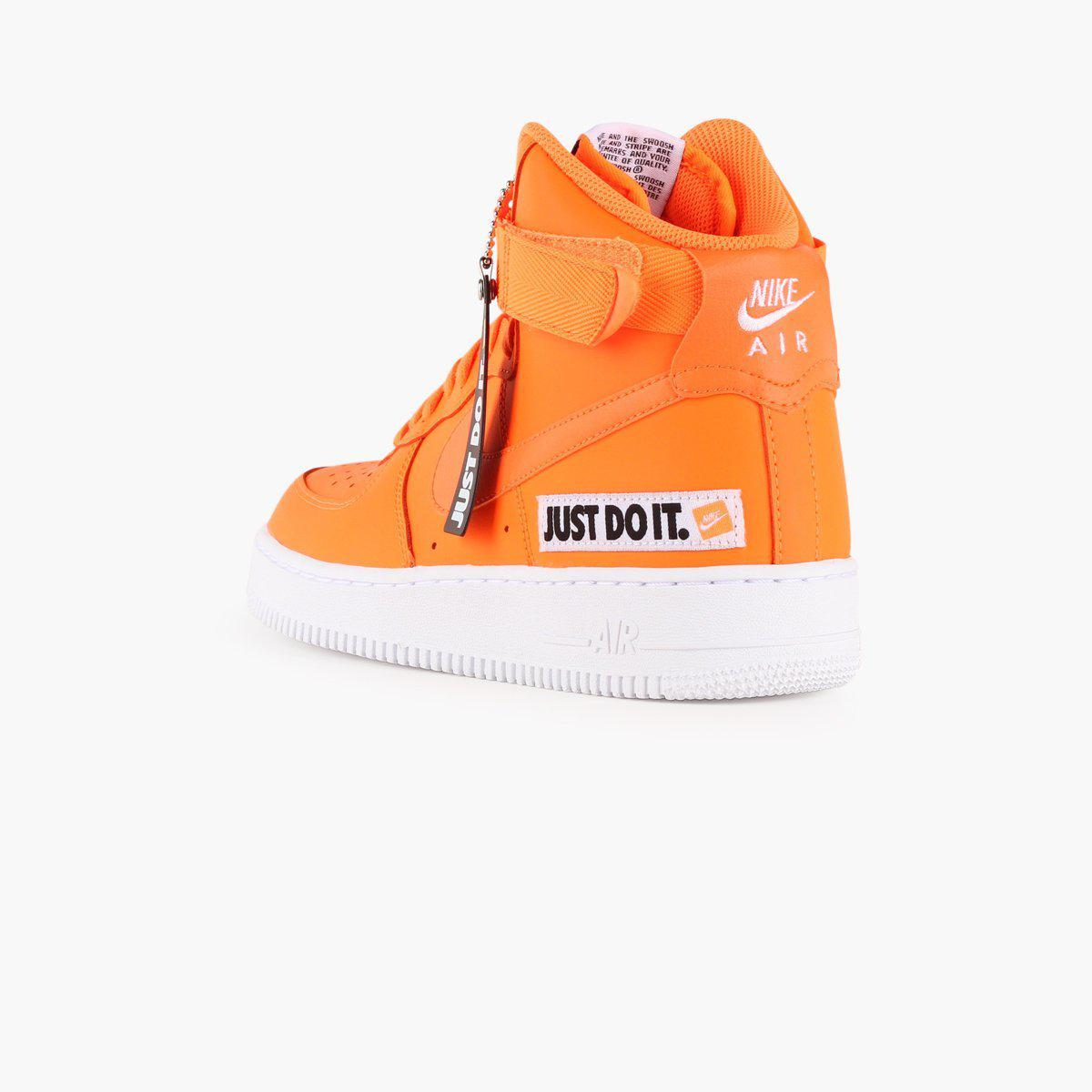 ad470303d764 Nike - Orange Air Force 1 High Lx Leather Women s - Lyst. View fullscreen