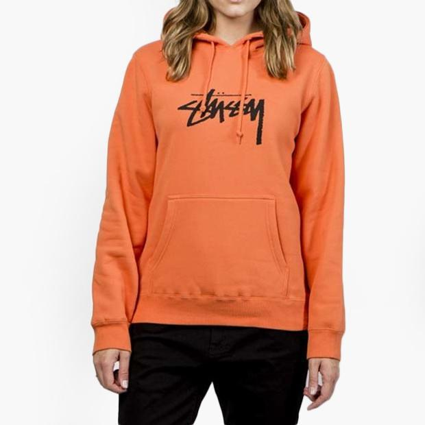 Stussy Stock Hoodie Women s in Orange - Lyst 8501a21fc2