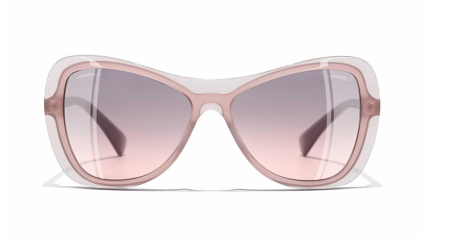 3c33a24c3fb9 Chanel Butterfly Sunglasses in Pink - Lyst