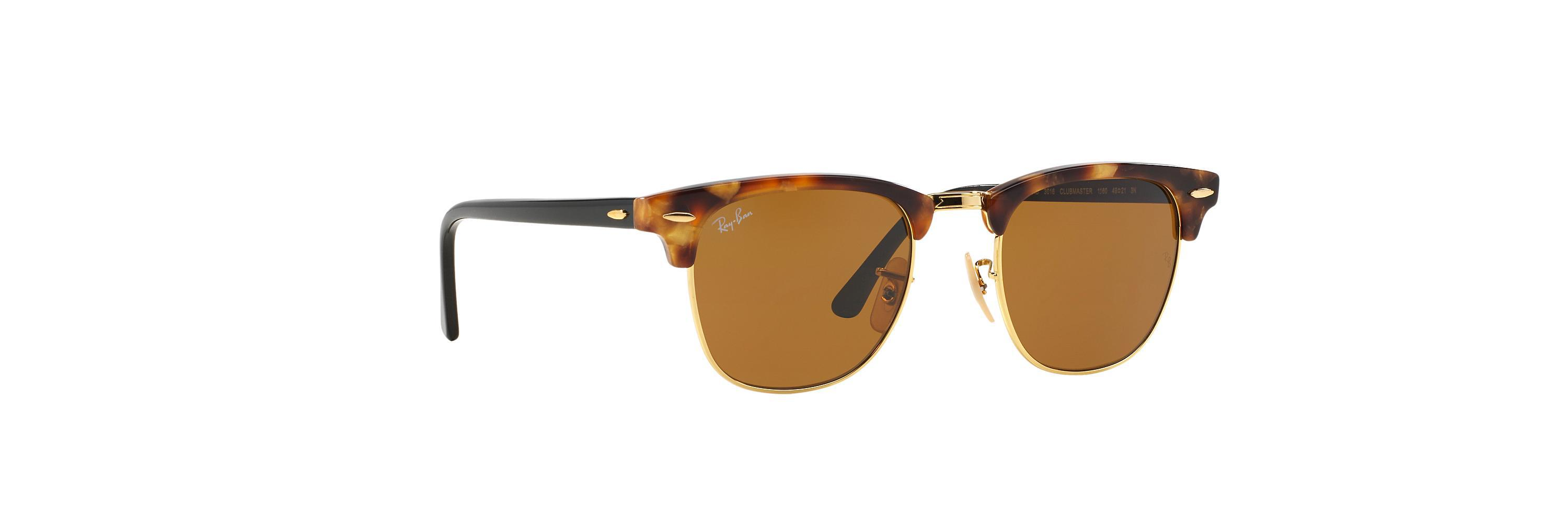 ecd84420249 Lyst - Ray-Ban Rb3016 51 Clubmaster Fleck in Brown