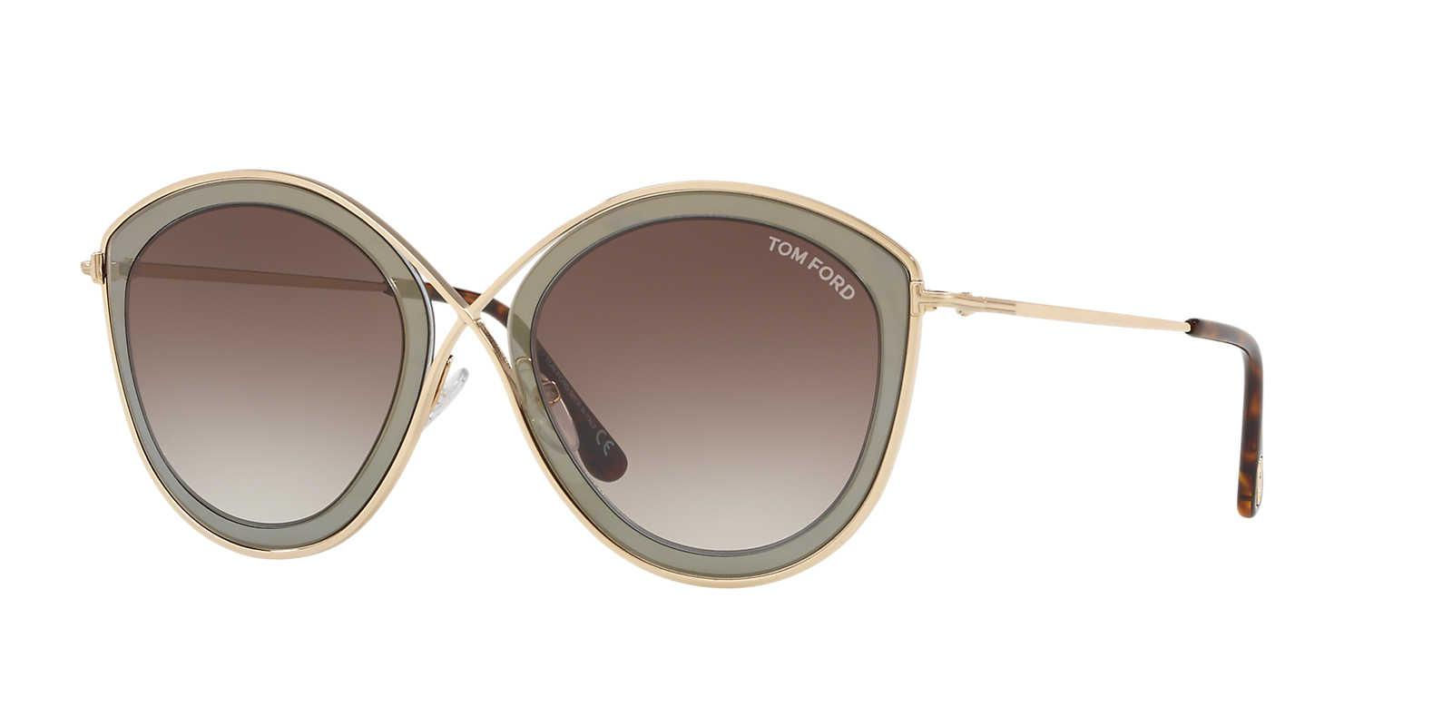 54986ef35cf9 Tom Ford Sunglass Ft0604 55 in Gray - Lyst