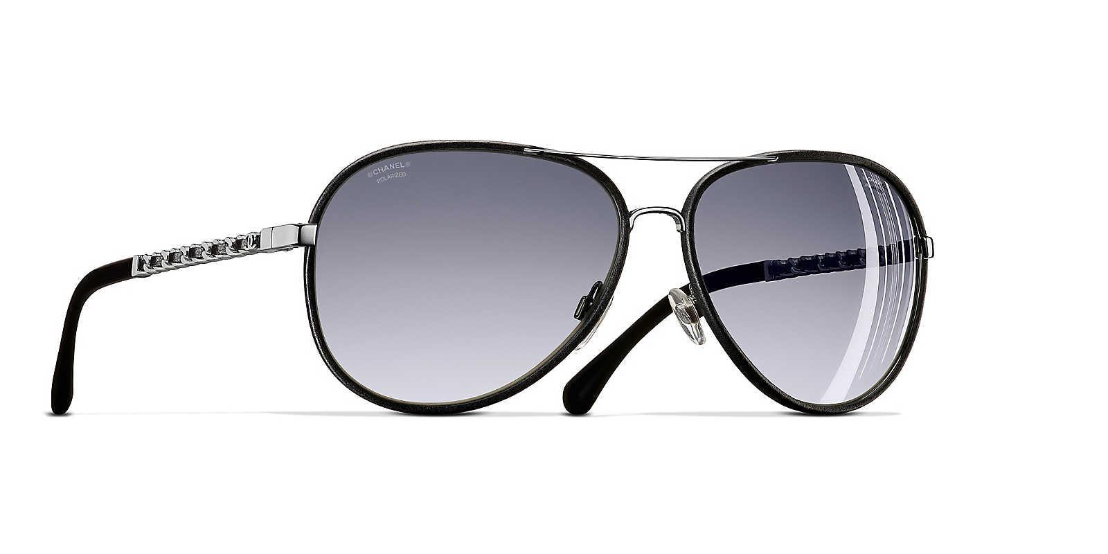 004a067caa8c Chanel Sunglass Pilot Sunglasses in Gray - Lyst