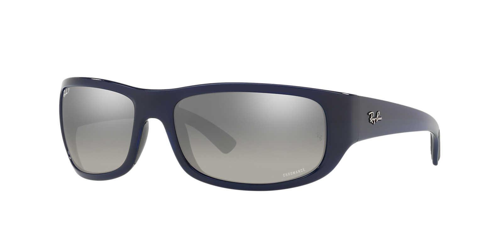 782539ebc38 Ray-Ban. Men s Gray Polarized Chromance Collection Sunglasses ...
