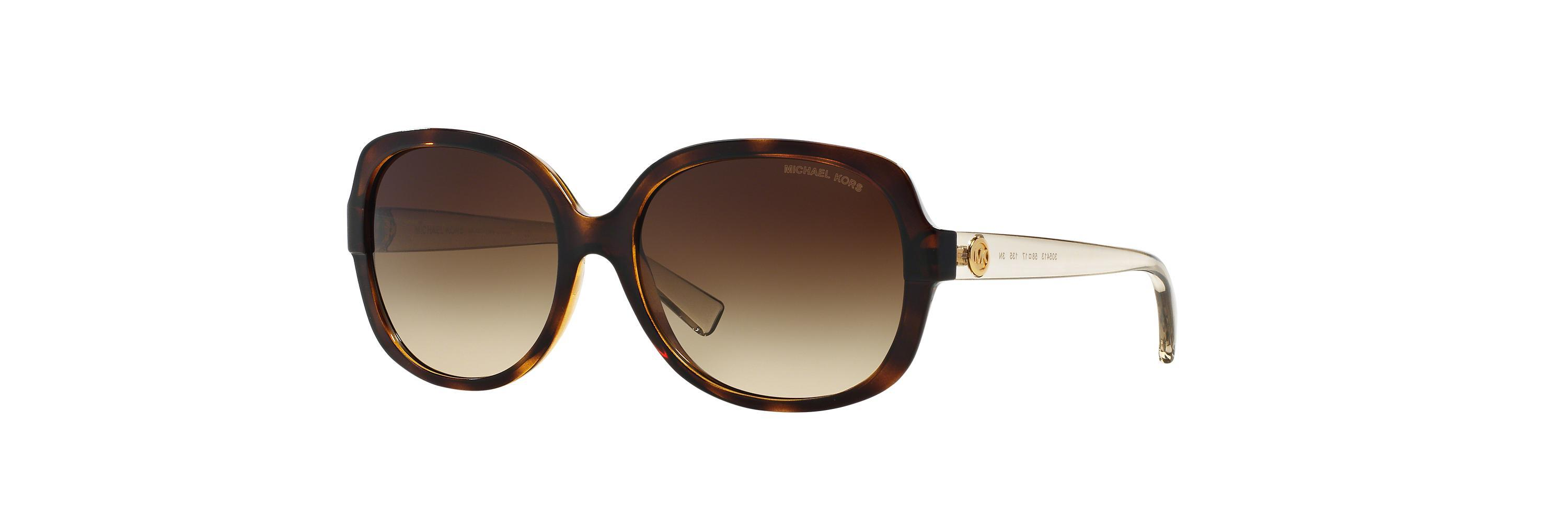5637549aac Gallery. Previously sold at  Sunglass Hut · Women s Michael Kors Charm  Women s Leopard Sunglasses ...