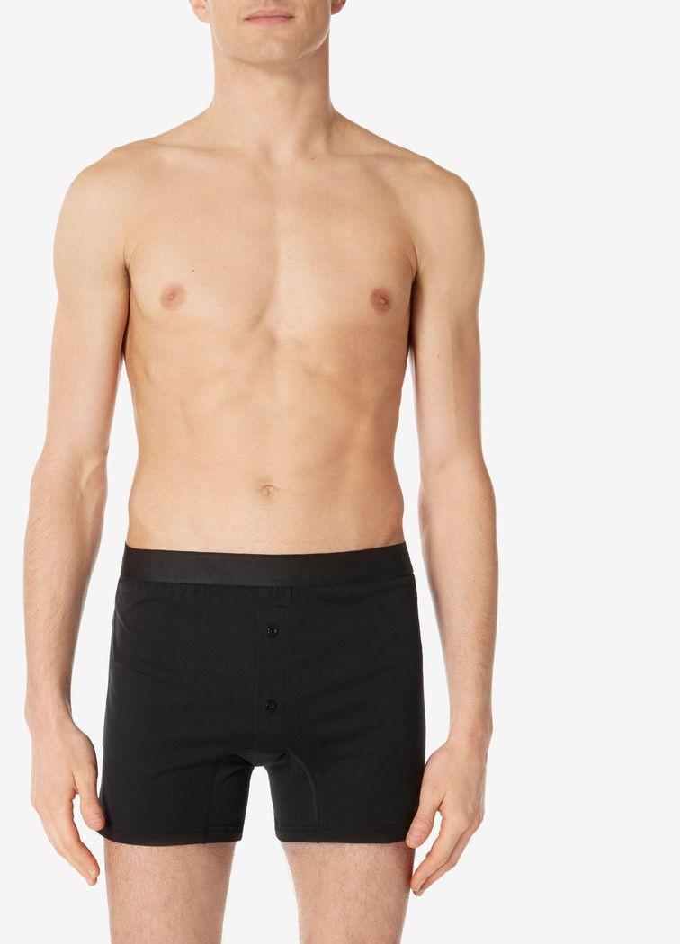 00cfec5ad23f Sunspel - Men's Superfine Cotton Two-button Shorts In Black for Men - Lyst.  View fullscreen
