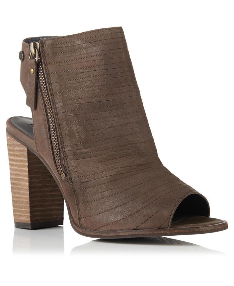 Superdry Cara Cut Peep Toe Heeled Shoes