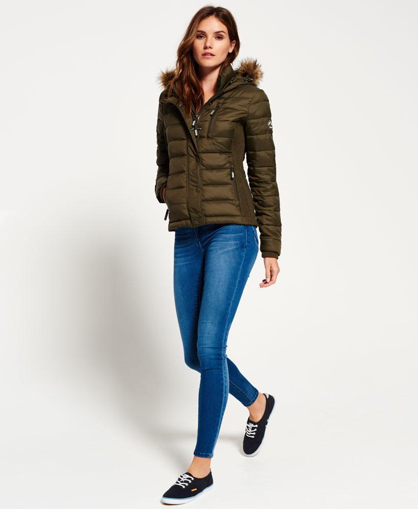 Superdry Fuji Slim Double Zip Hooded Jacket In Green Lyst