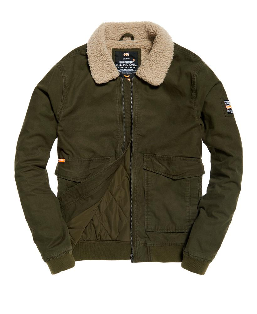 7dbadbceea84 Winter Aviator Bomber Rookie Jacket In For Lyst Green Superdry Men OqwEAWOR