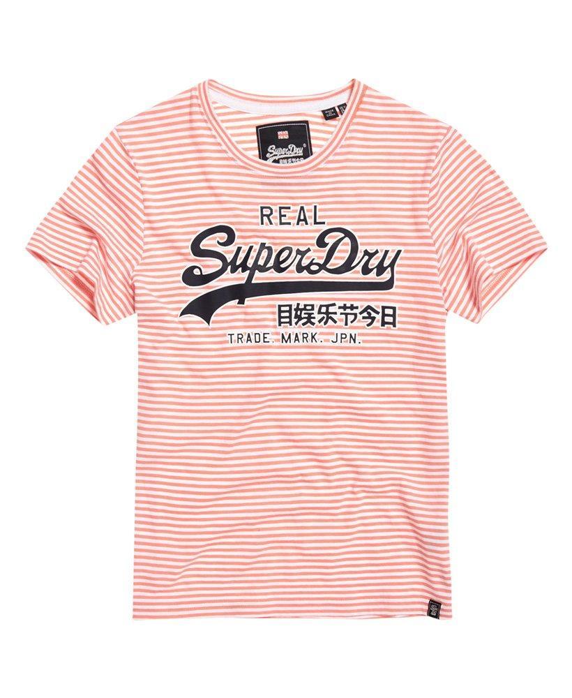 6f079ba6ac Lyst - Superdry Vintage Logo Stripe T-shirt in Pink