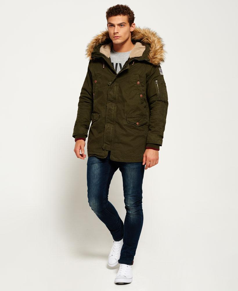 Superdry Rookie Heavy Weather Parka Jacket For Men