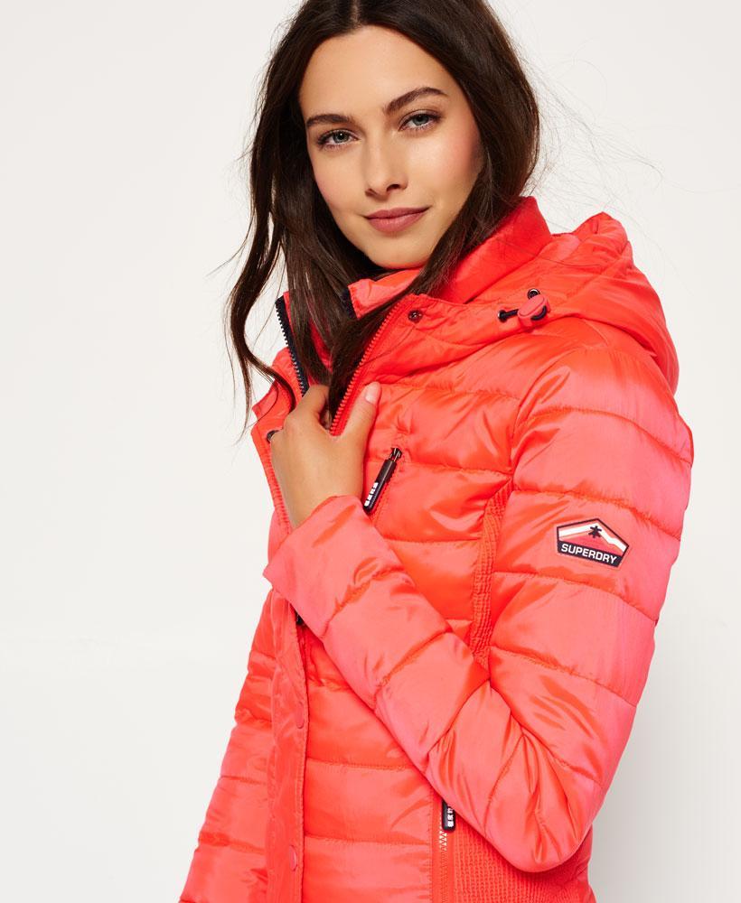 Lyst Superdry Hooded Fuji Slim Double Zip Jacket In Red