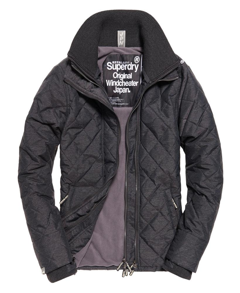 Lyst Superdry Quilted Arctic Windcheater Jacket In Black