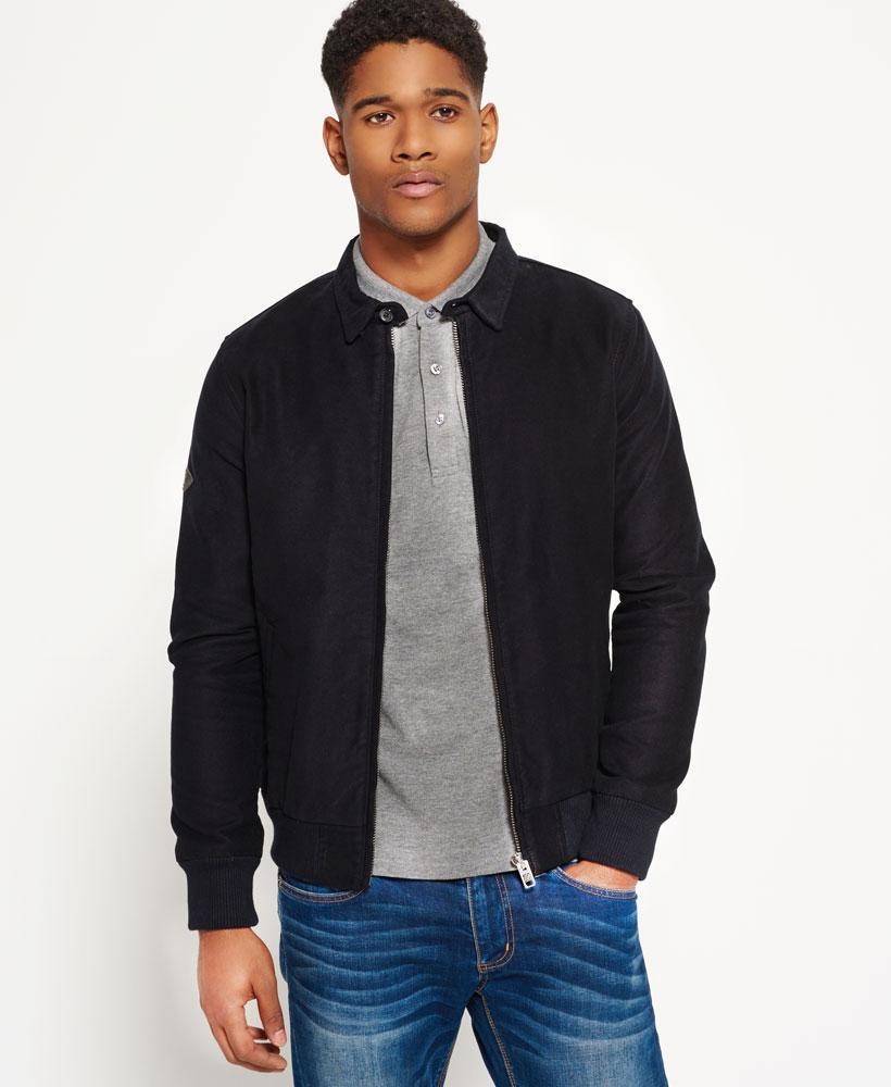 Superdry Ultimate Moleskin Harrington Jacket In Black For