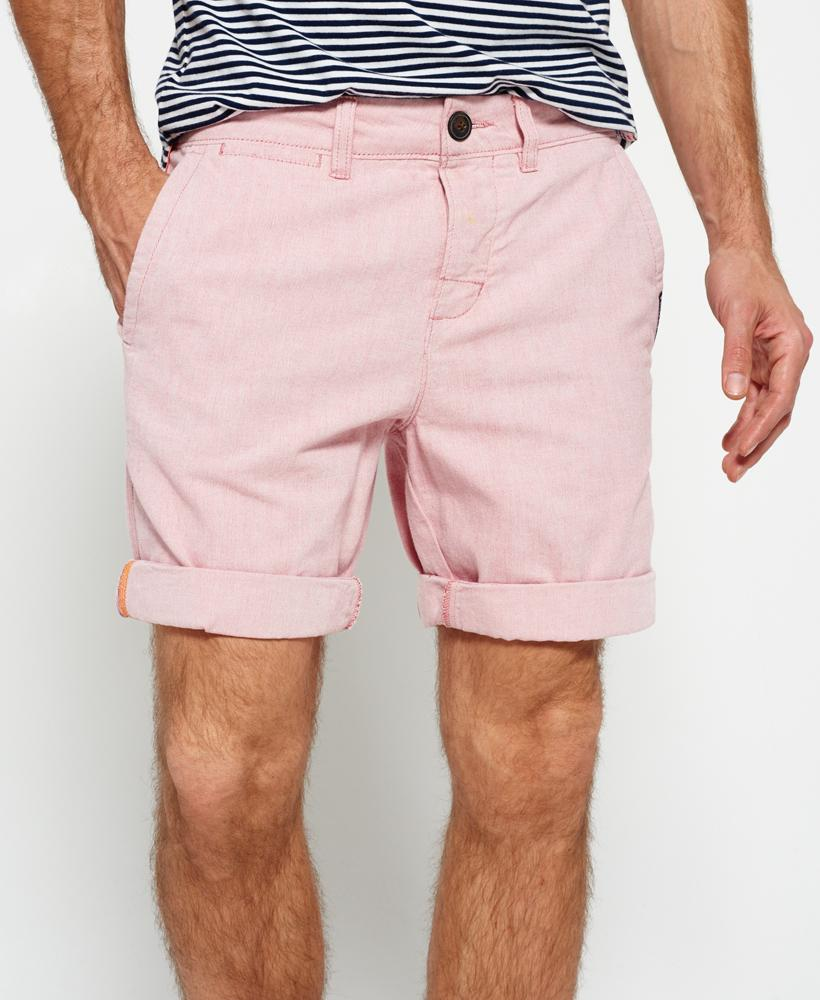 Superdry International Oxford Chino Shorts in Pink for Men | Lyst