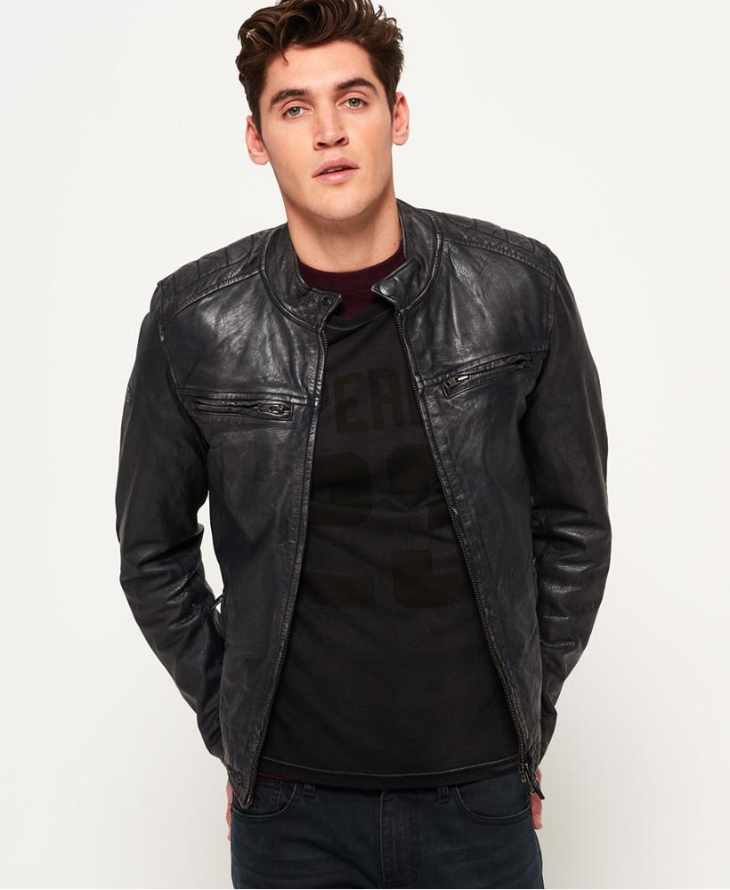 Lyst Superdry Sd Endurance Comp Racer Leather Jacket in
