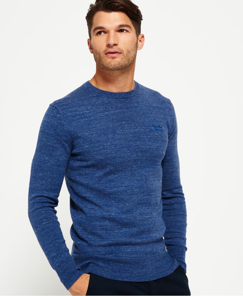 superdry orange label crew jumper in blue for men lyst. Black Bedroom Furniture Sets. Home Design Ideas