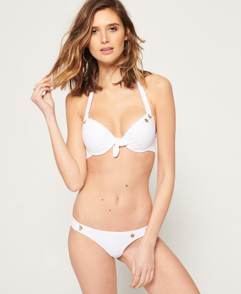 08ea6fefe2 Superdry Picot Textured Cup Bikini Top in White - Lyst