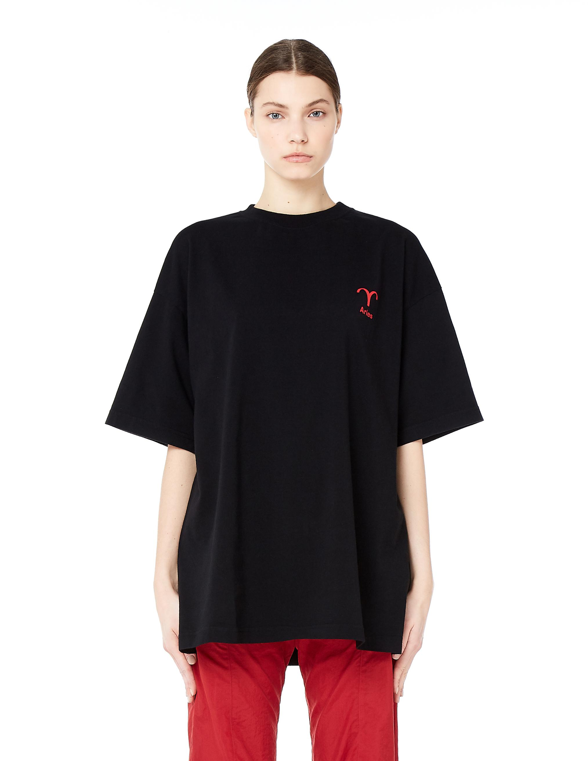 vetements aries cotton t shirt in black lyst. Black Bedroom Furniture Sets. Home Design Ideas