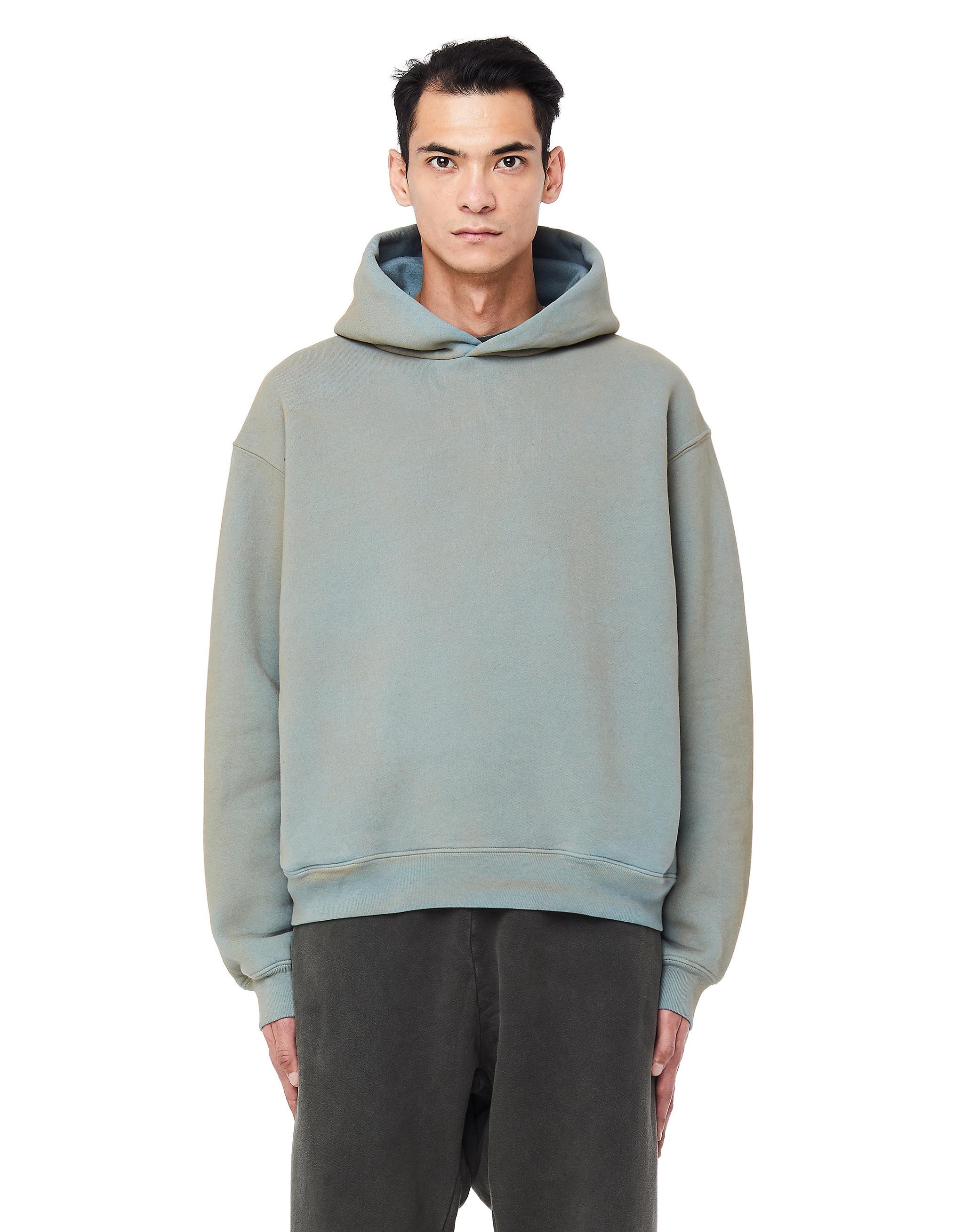 34347e651 Yeezy Glacier Cotton Hoodie in Blue for Men - Lyst