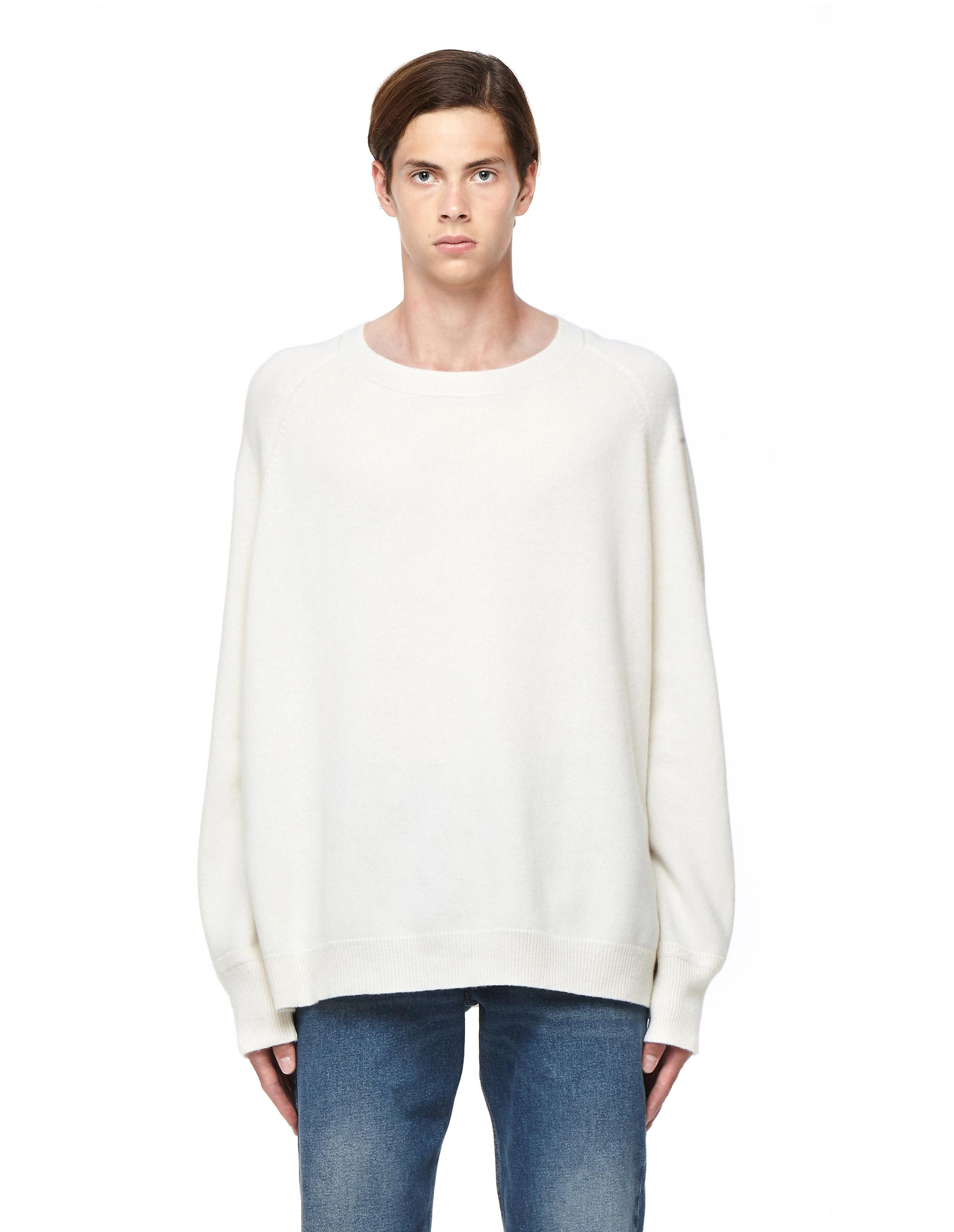 lyst haider ackermann wool sweater in white for men. Black Bedroom Furniture Sets. Home Design Ideas