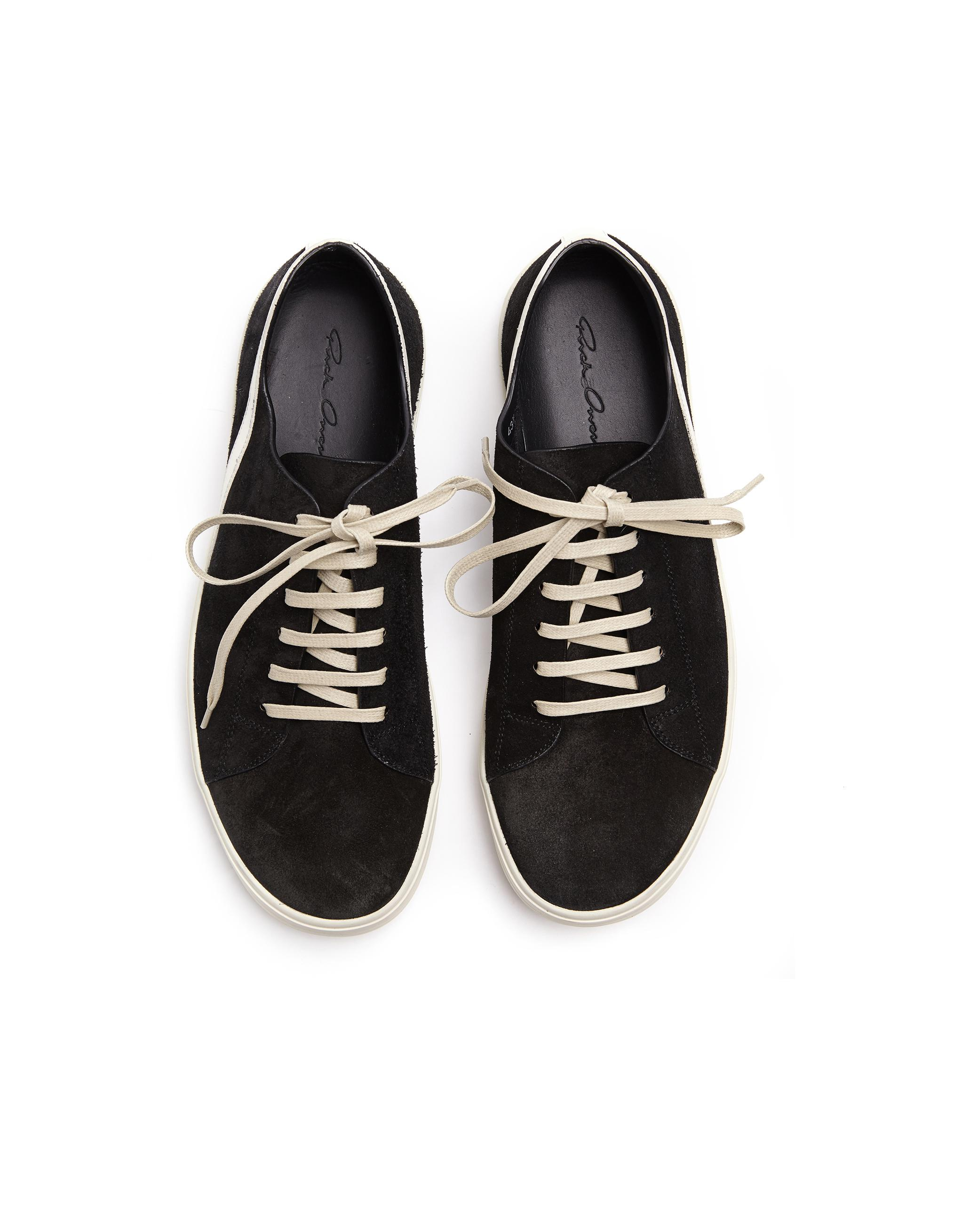 Rick Owens Suede Sneakers in Black for Men - Lyst 2afaf447e