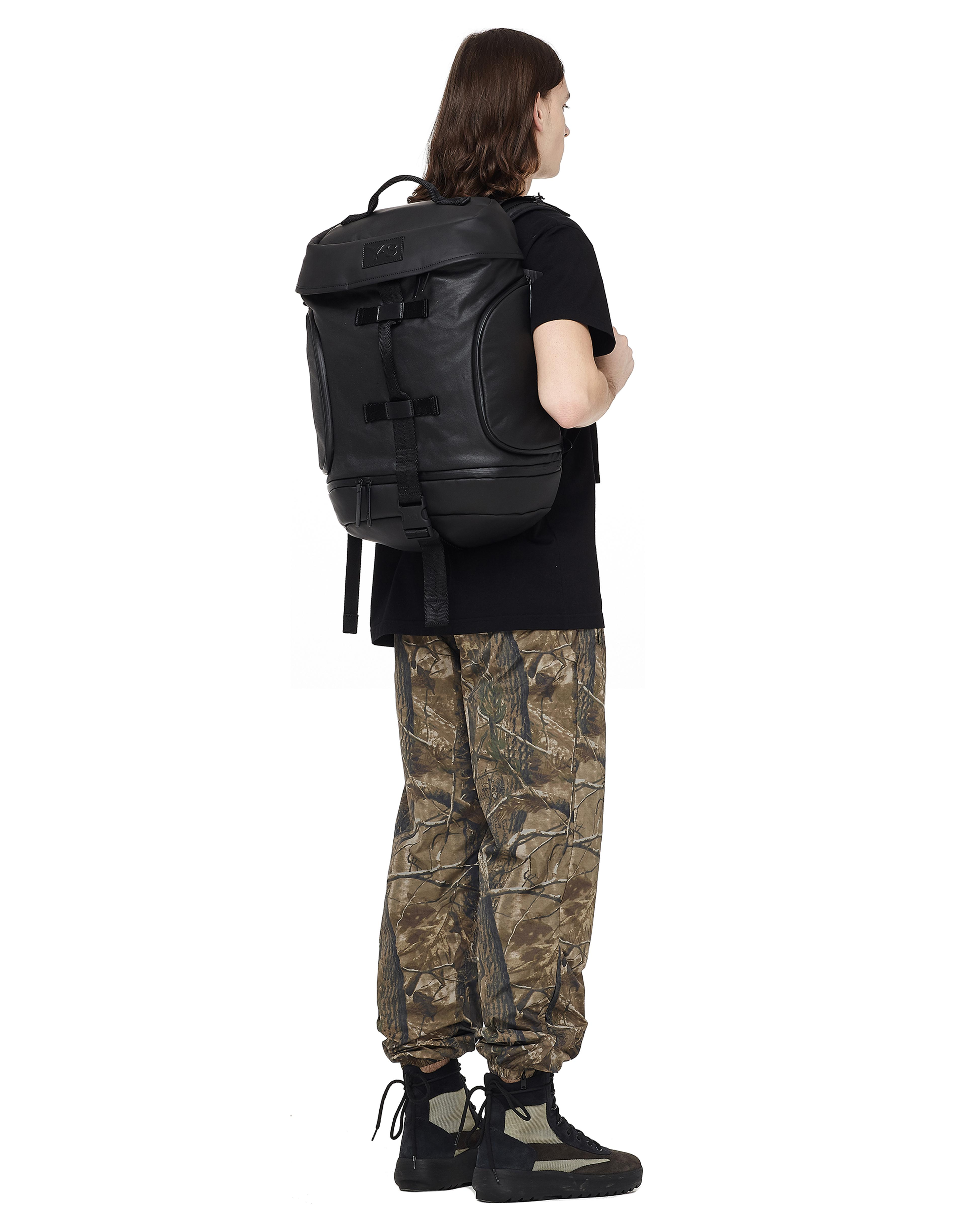Lyst - Y-3 Icon Textile Backpack in Black 9984724a63743