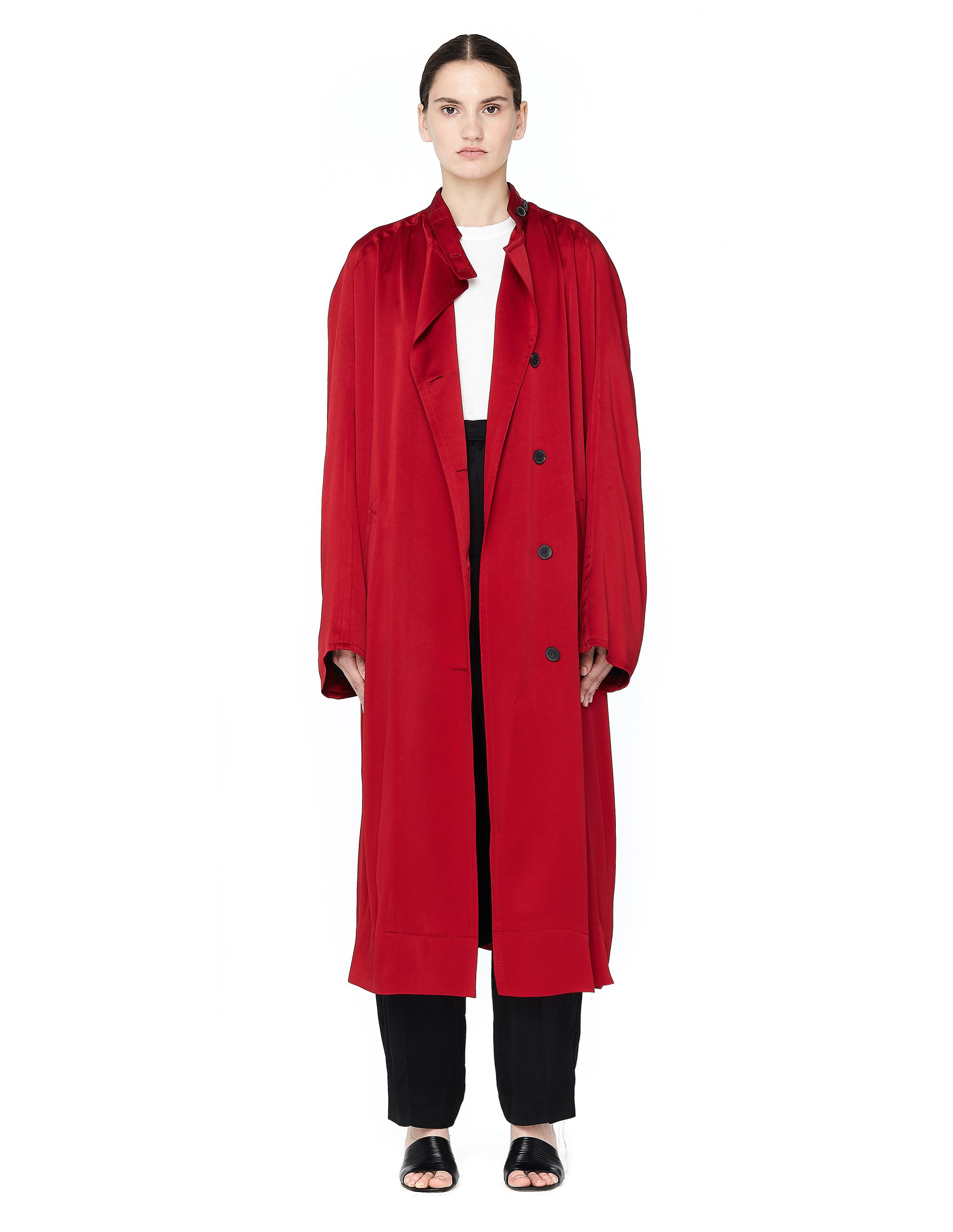 Satin Coat - Claret Haider Ackermann Clearance Exclusive Buy Cheap Huge Surprise Hard Wearing Clearance Low Shipping Footlocker Pictures Cheap Online iSYRdlk
