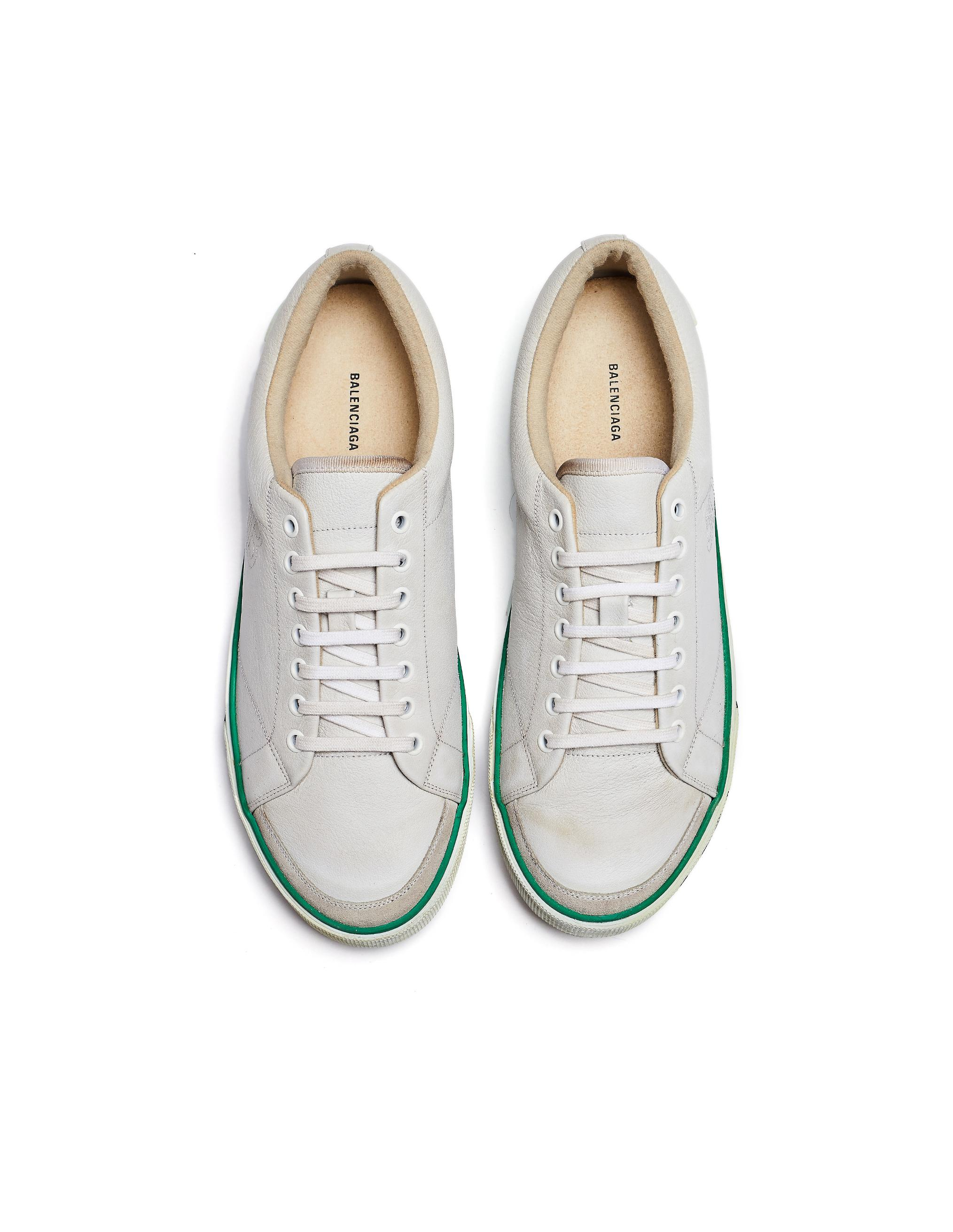 48ef616d1595 Lyst - Balenciaga White Leather Match Sneakers in White for Men - Save 45%