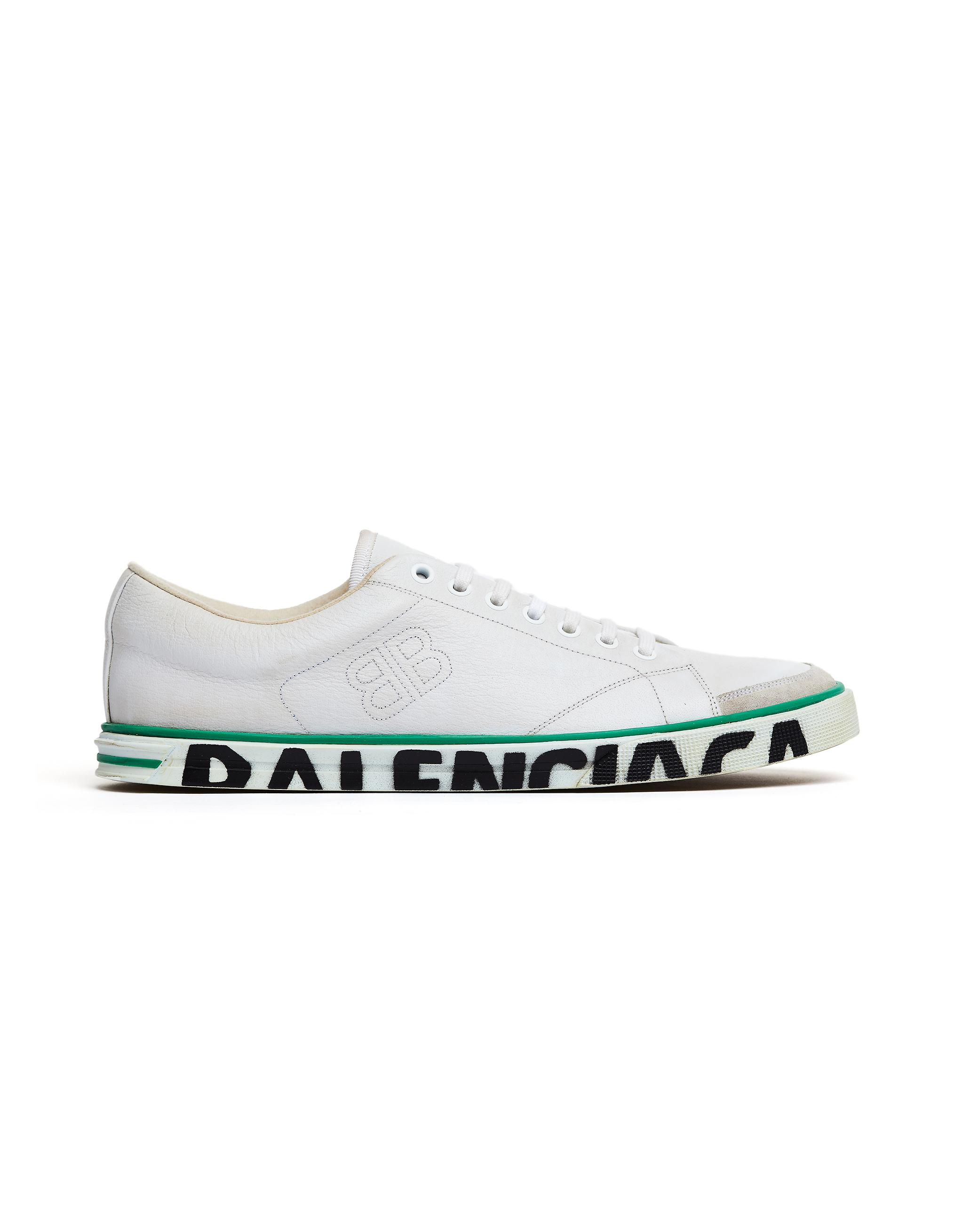 df1012bbd8a5 Lyst - Balenciaga White Leather Match Sneakers in White for Men ...