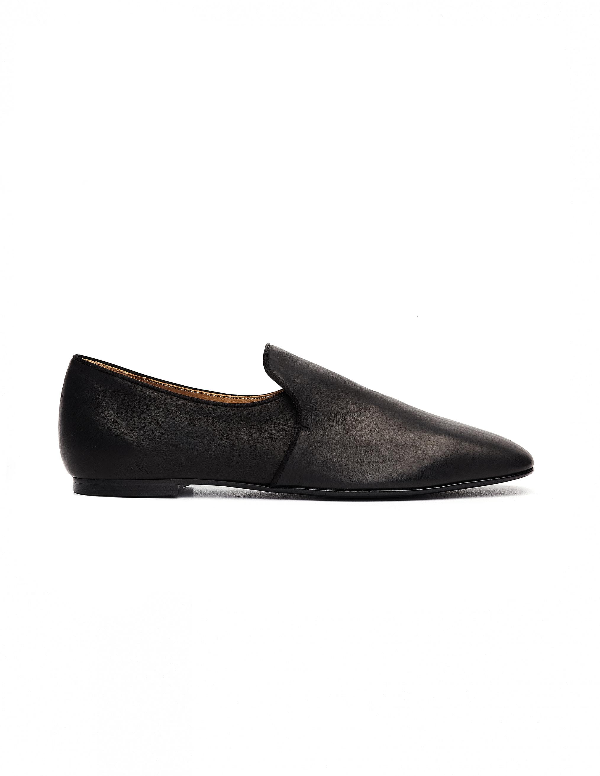 7779d722db1 The Row Alys Leather Loafers in Black - Lyst