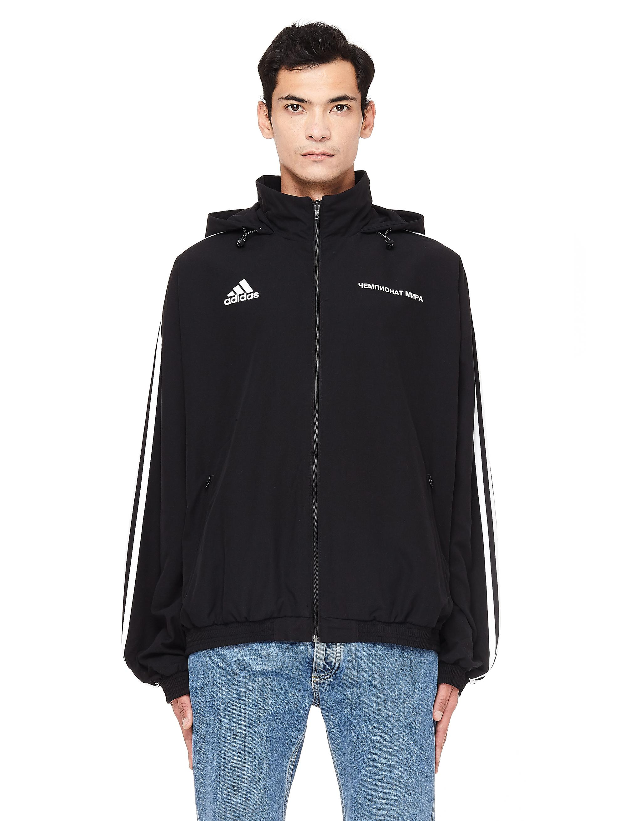bd5fb9f0 Gosha Rubchinskiy Black Hooded Adidas Track Jacket in Black for Men ...