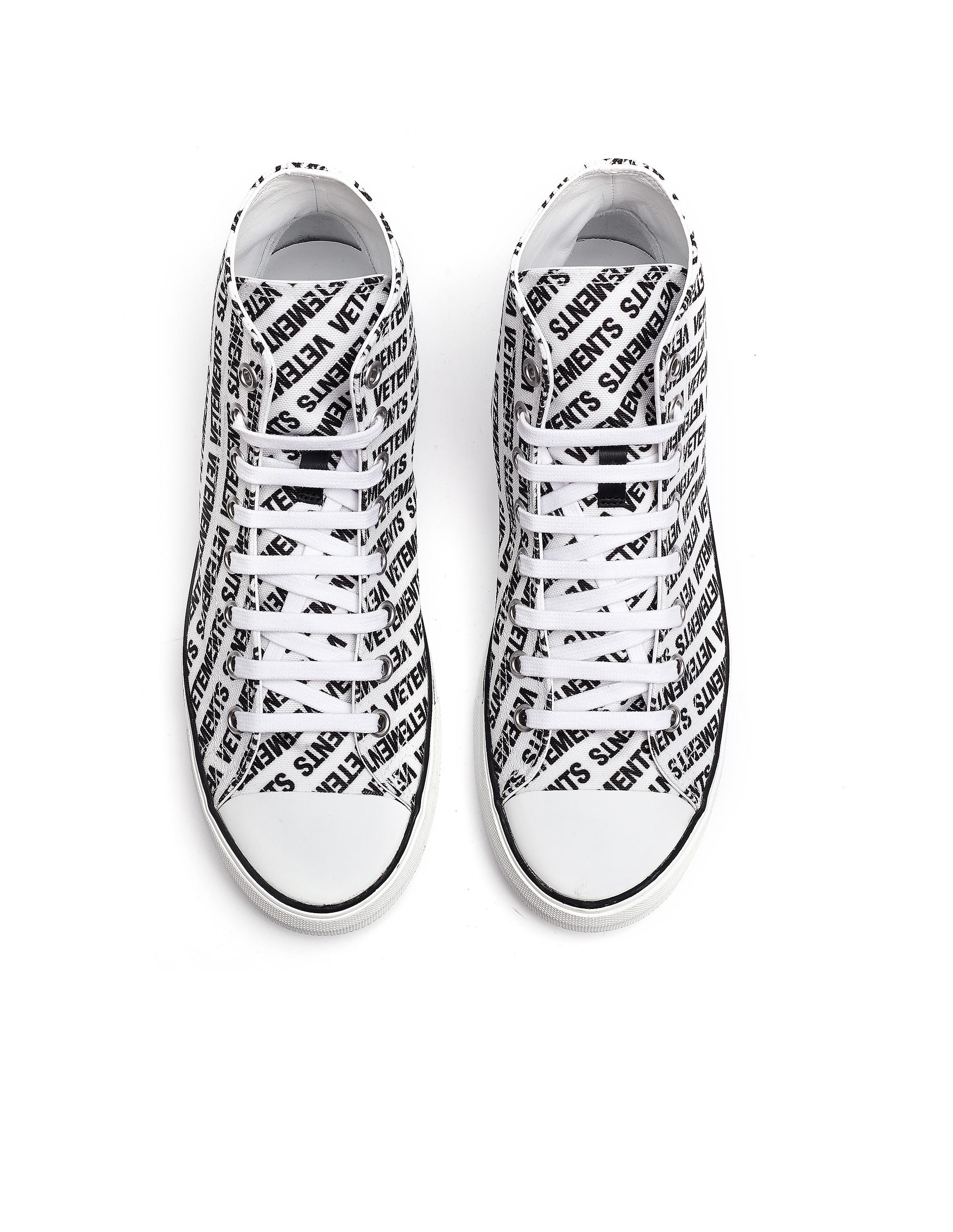 3ad9632273774 Vetements White Logo Printed Converse Sneakers in White for Men - Save 28%  - Lyst