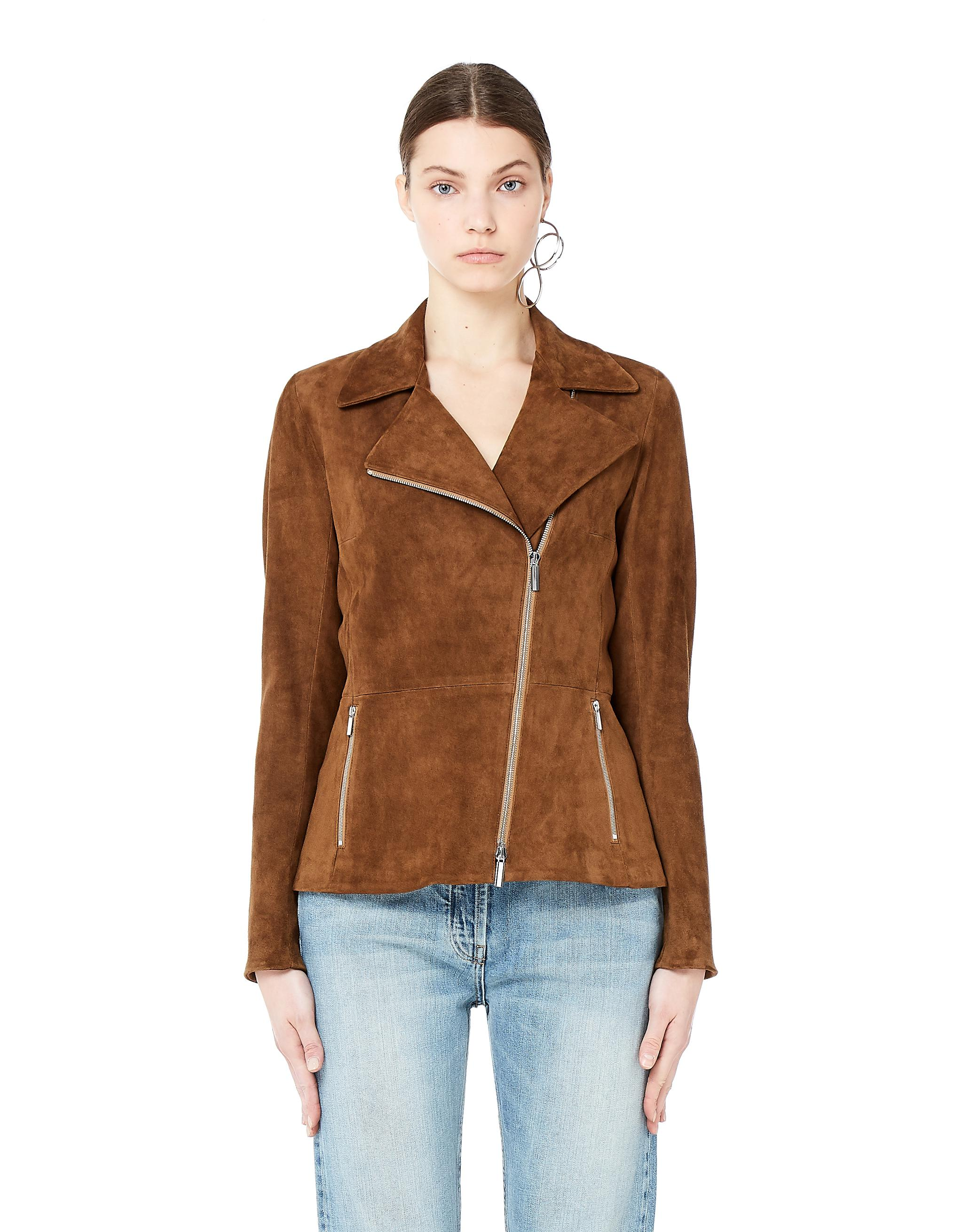 f08d592810 Lyst - The Row Paylee Brown Suede Biker Jacket in Brown