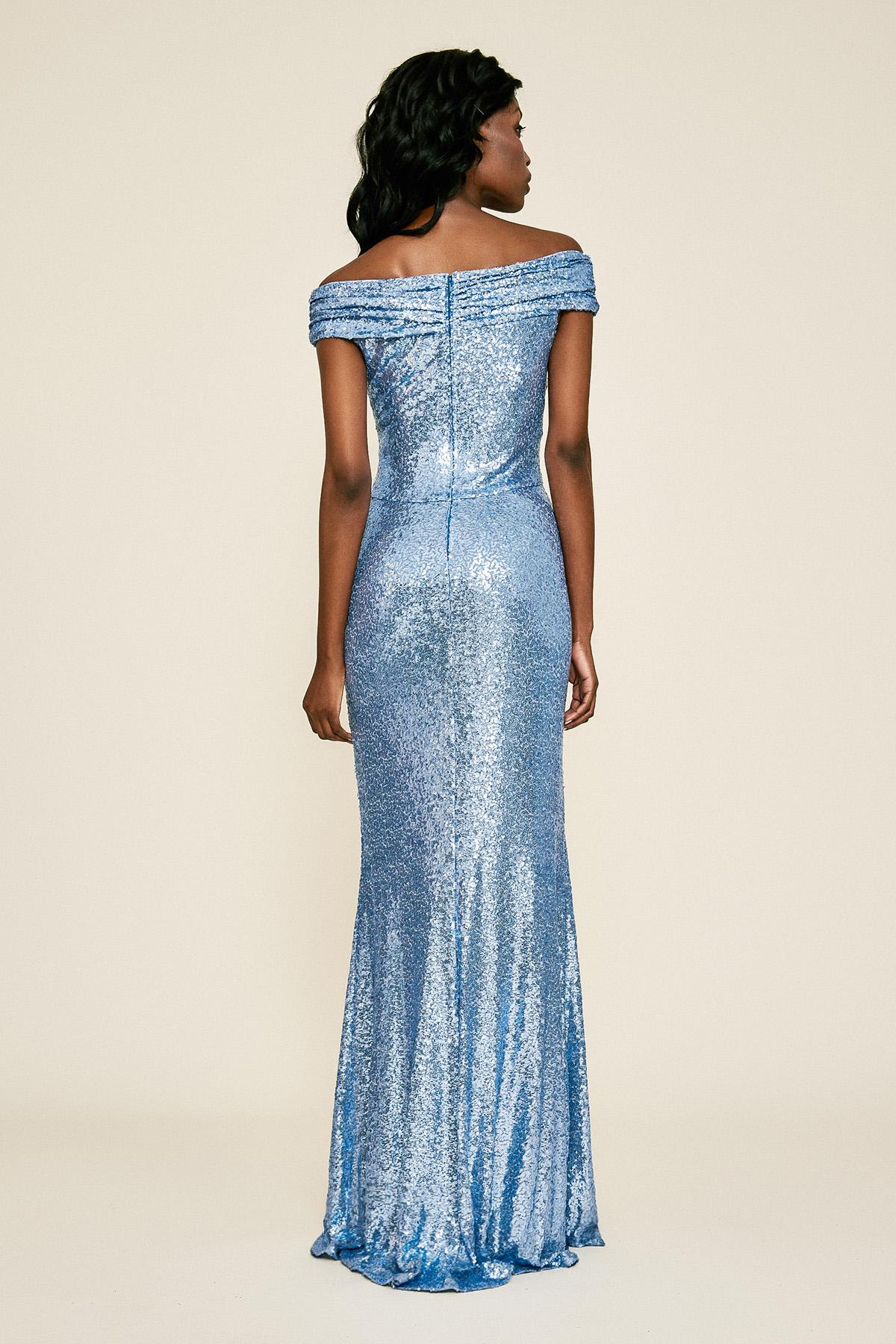 257ebe0a7ab Tadashi Shoji - Blue Whitson Off-the-shoulder Sequin Gown - Lyst. View  fullscreen
