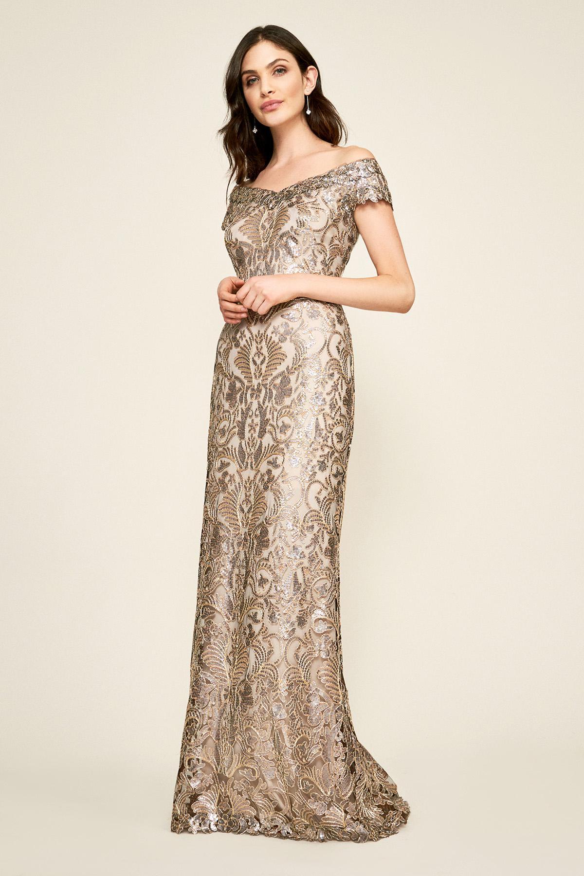 1888845f3a Tadashi Shoji. Women s Harford Sequin Gown