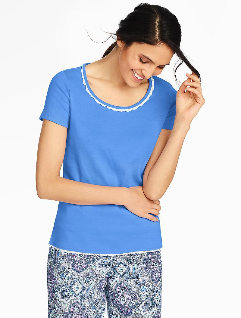 4e1bcf7c51 Lyst - Talbots Pajama Tee in Blue