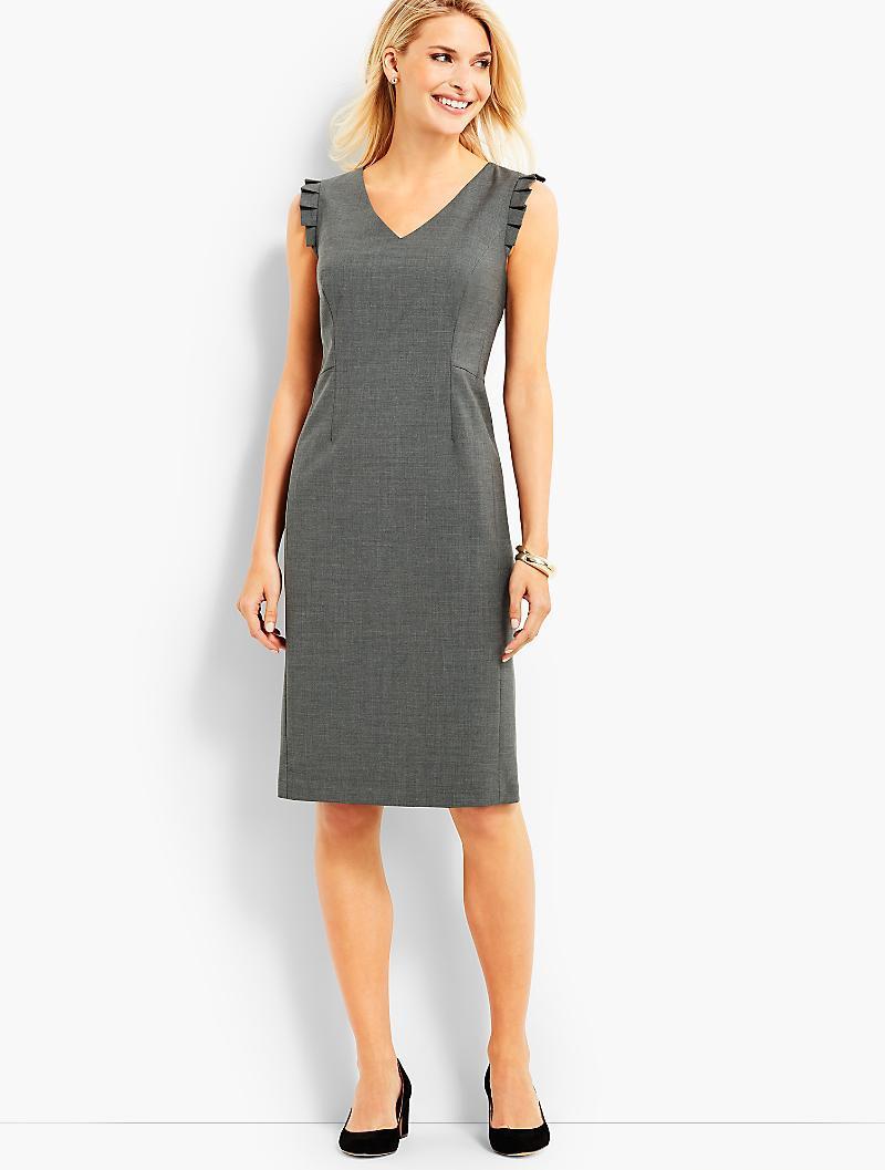 9152b537 Talbots - Multicolor Seasonless Wool Ruffle Sleeveless Sheath Dress - Lyst