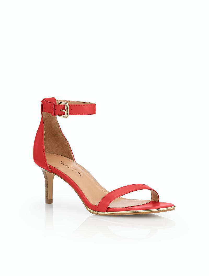 15646743e68 Lyst - Talbots Trulli Ankle-strap Sandals in Red