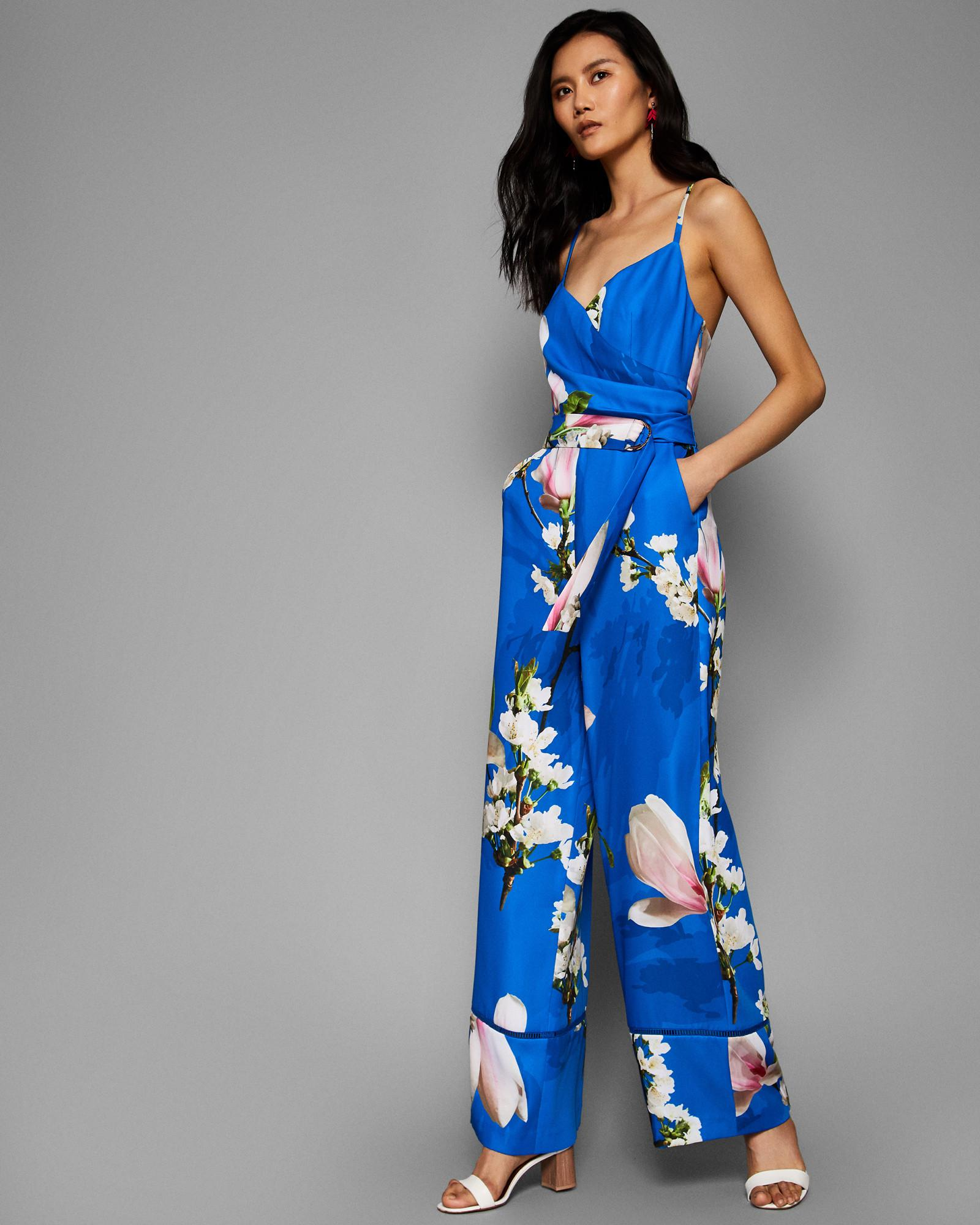 8023a42078 Lyst - Ted Baker Harmony Wrap Front Jumpsuit in Blue