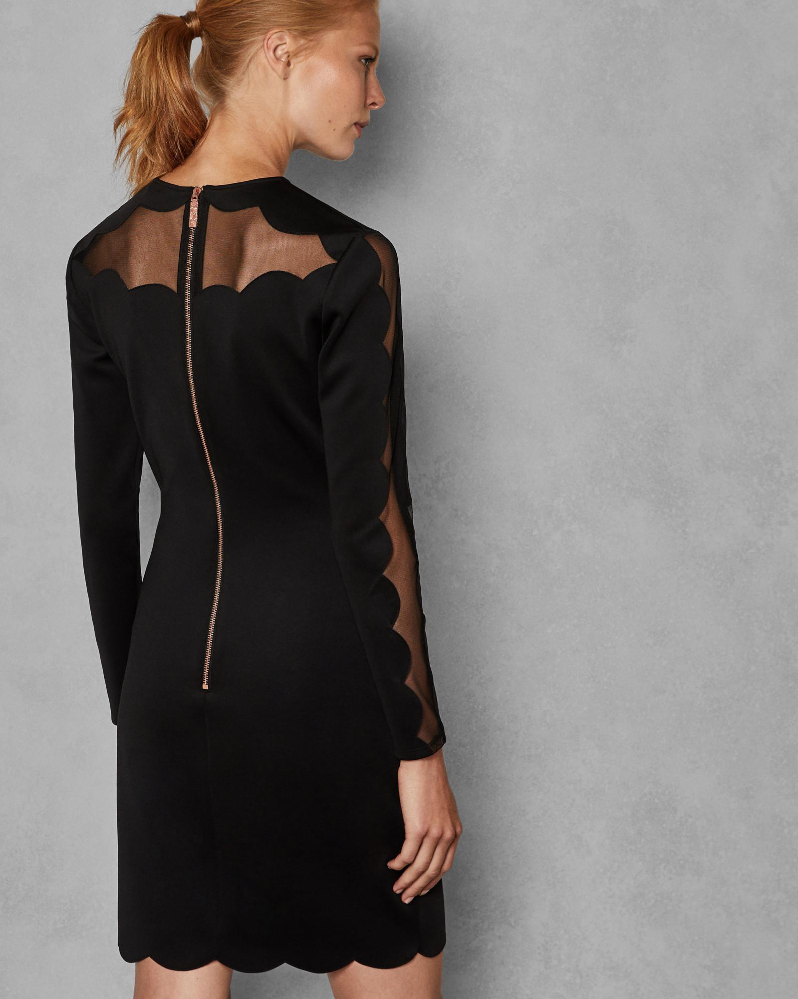 d056e3fb21a Ted Baker Joyous Bodycon Dress in Black - Lyst