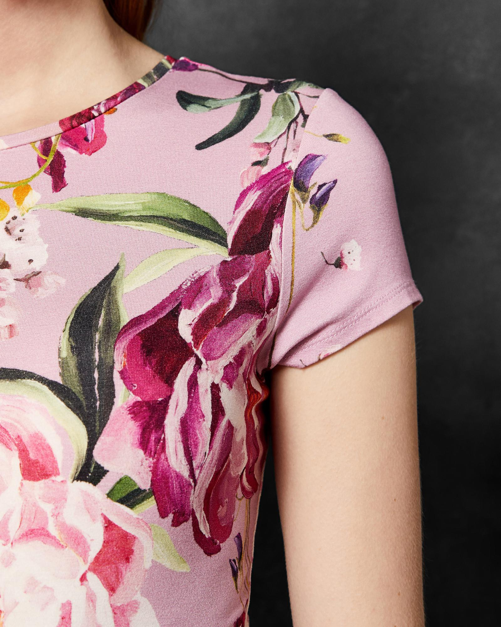 28f769555 Ted Baker Serenity Fitted T-shirt in Purple - Lyst