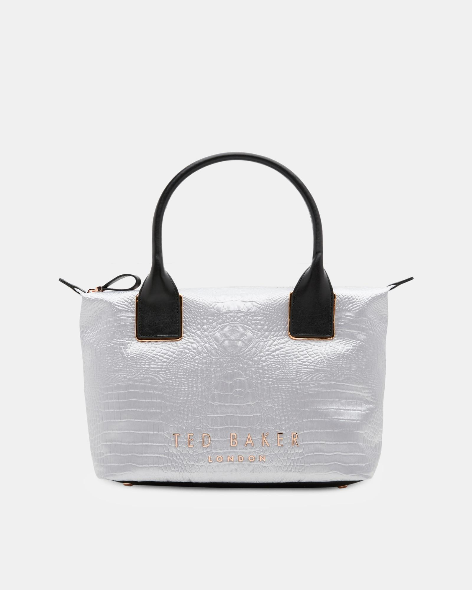 0ddd3023fca Ted Baker Exotic Small Tote Bag in Gray - Lyst
