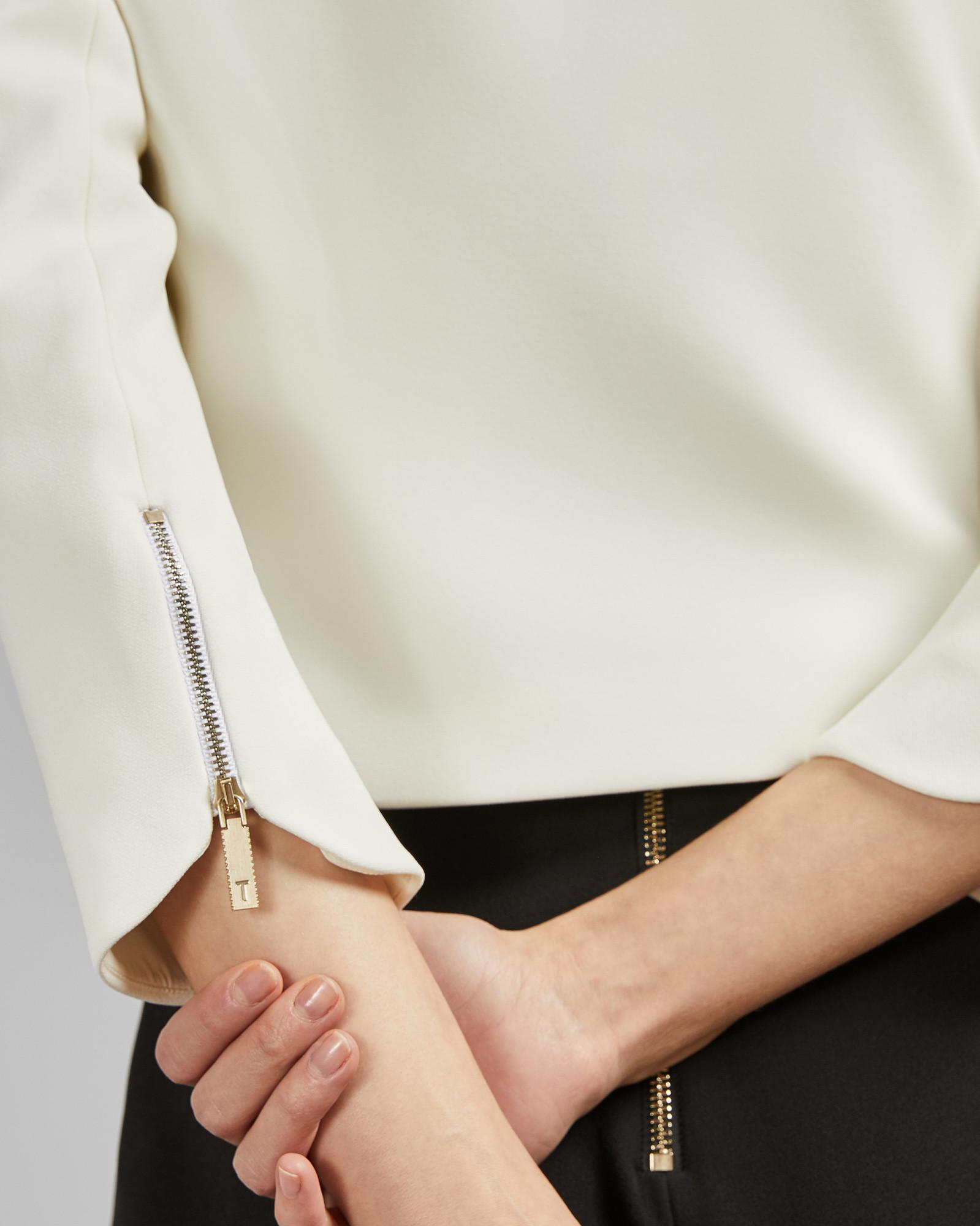 eead0349a Ted Baker - White Curved Hem Cropped Jacket - Lyst. View fullscreen