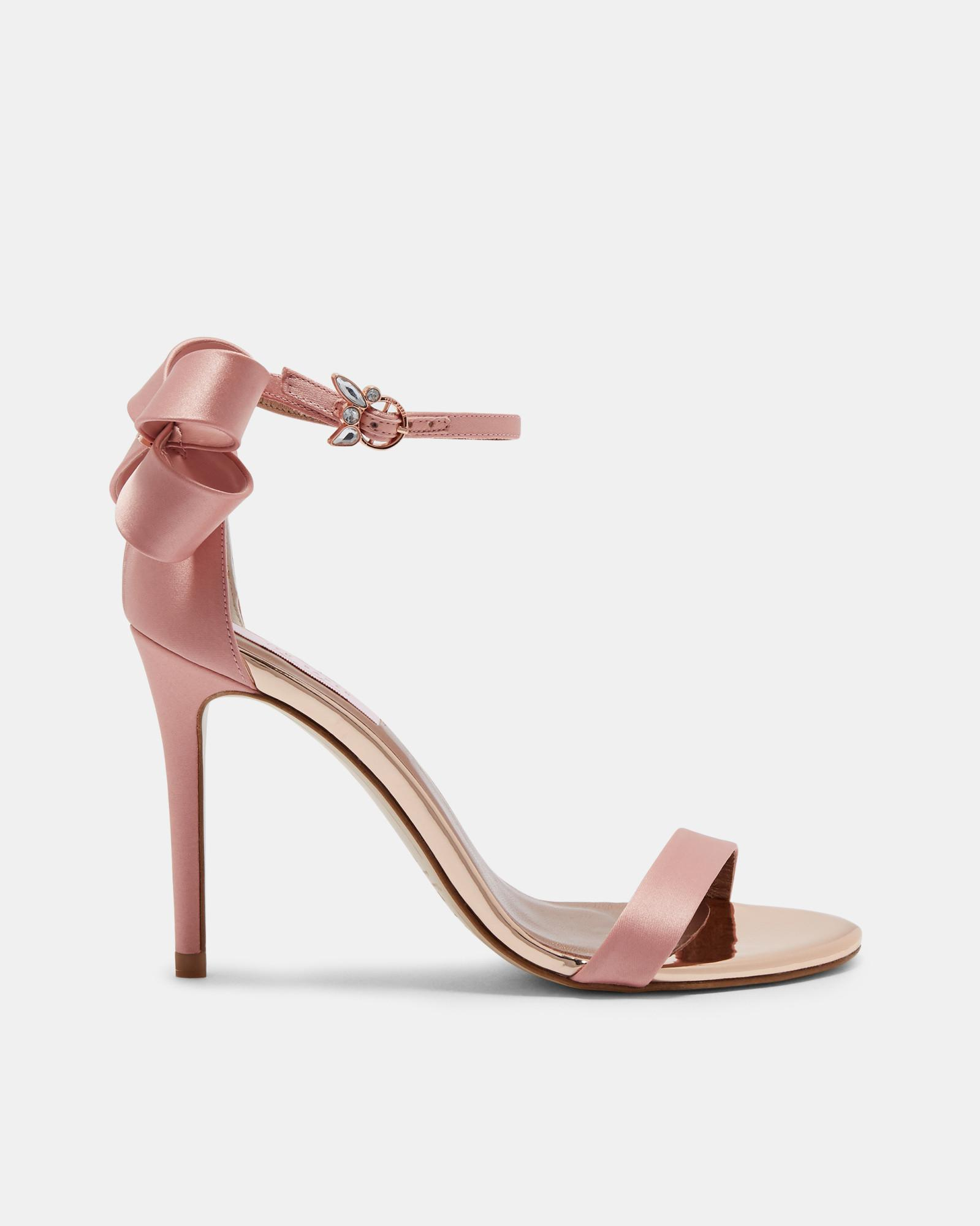 6db25273b Lyst - Ted Baker Bow Detail Heeled Sandals in Pink