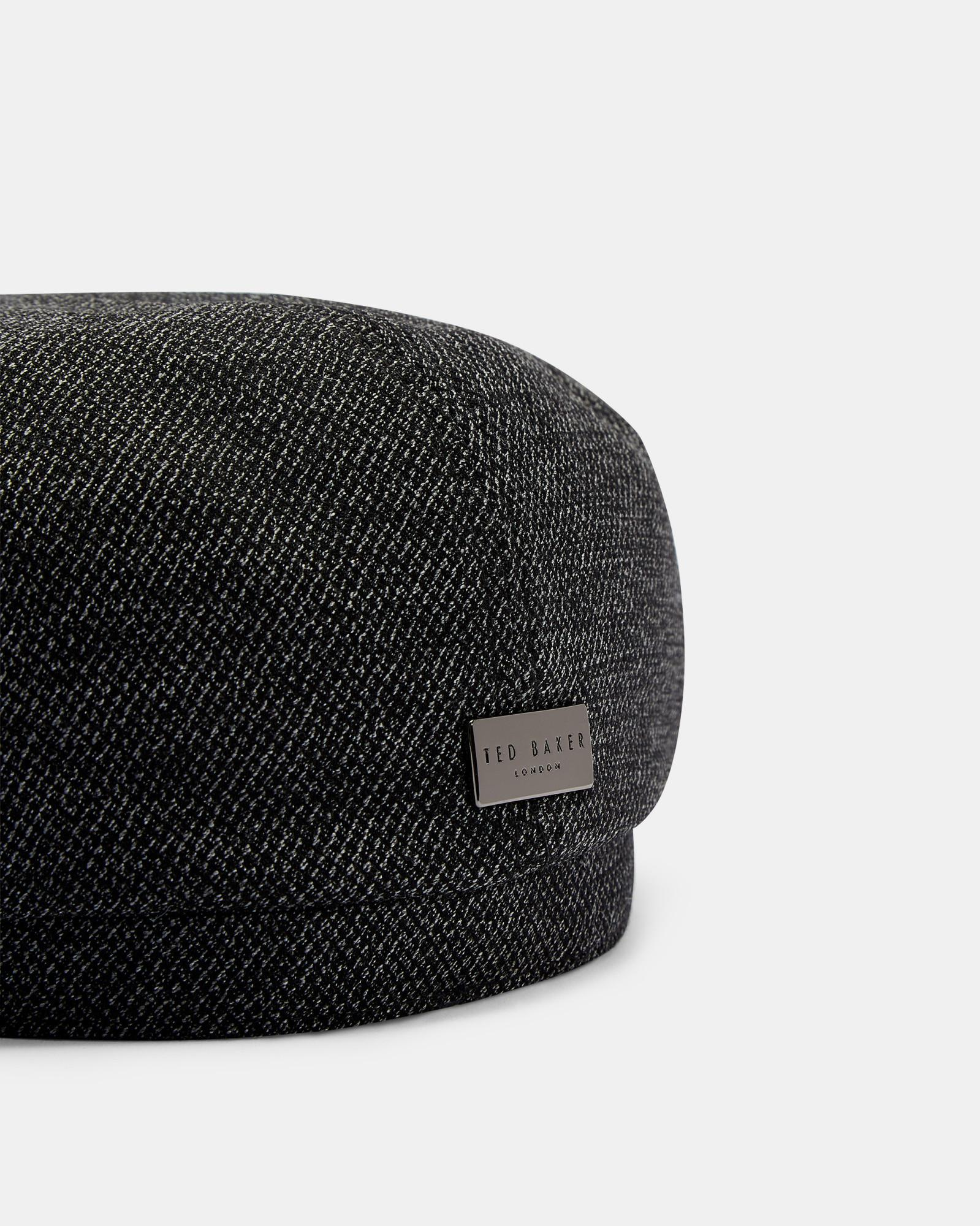 6fd971634 Ted Baker Textured Baker Boy Hat in Gray for Men - Lyst