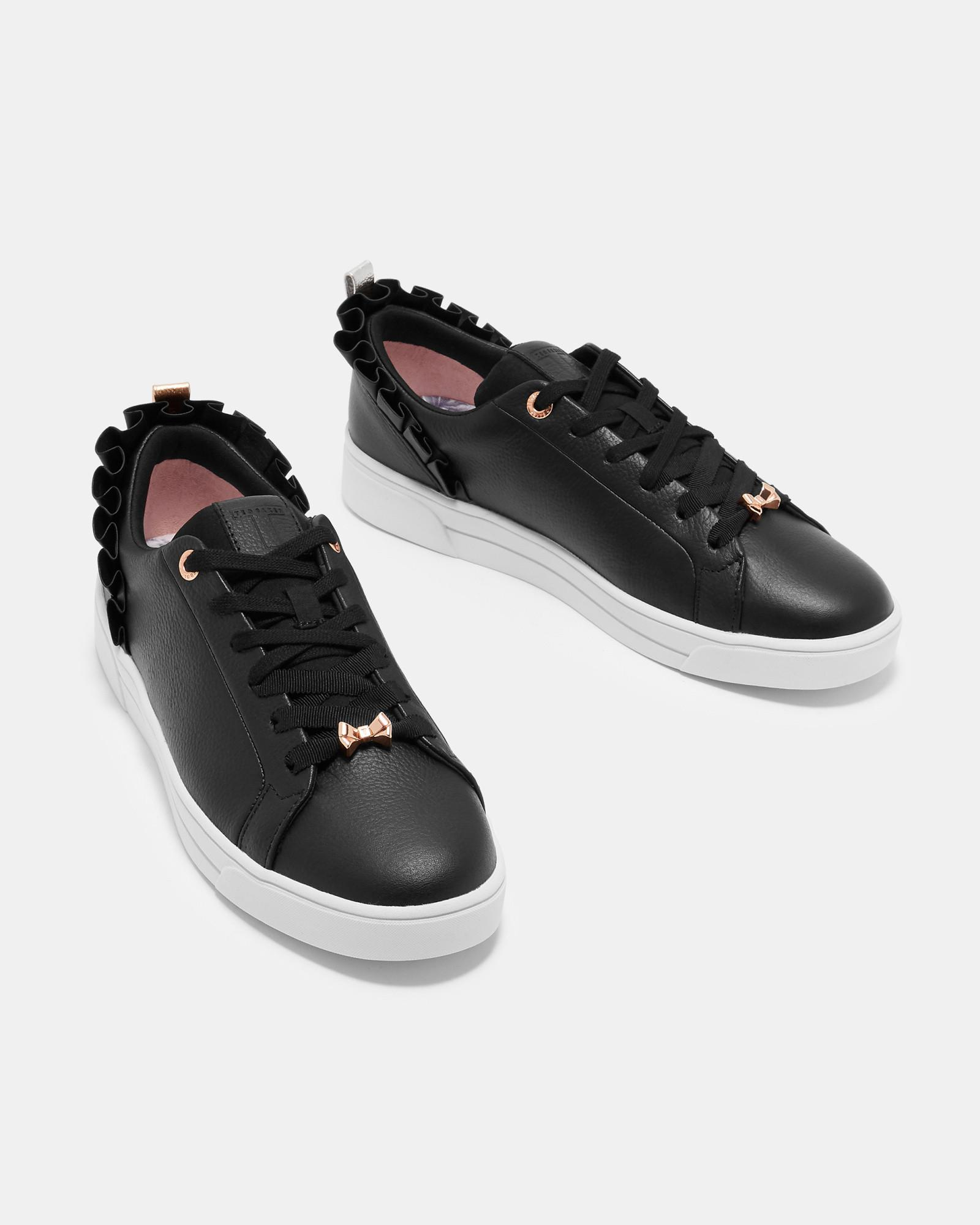 promo code dce70 bc591 ted-baker-Black-Ruffle-Detail-Trainers.jpeg
