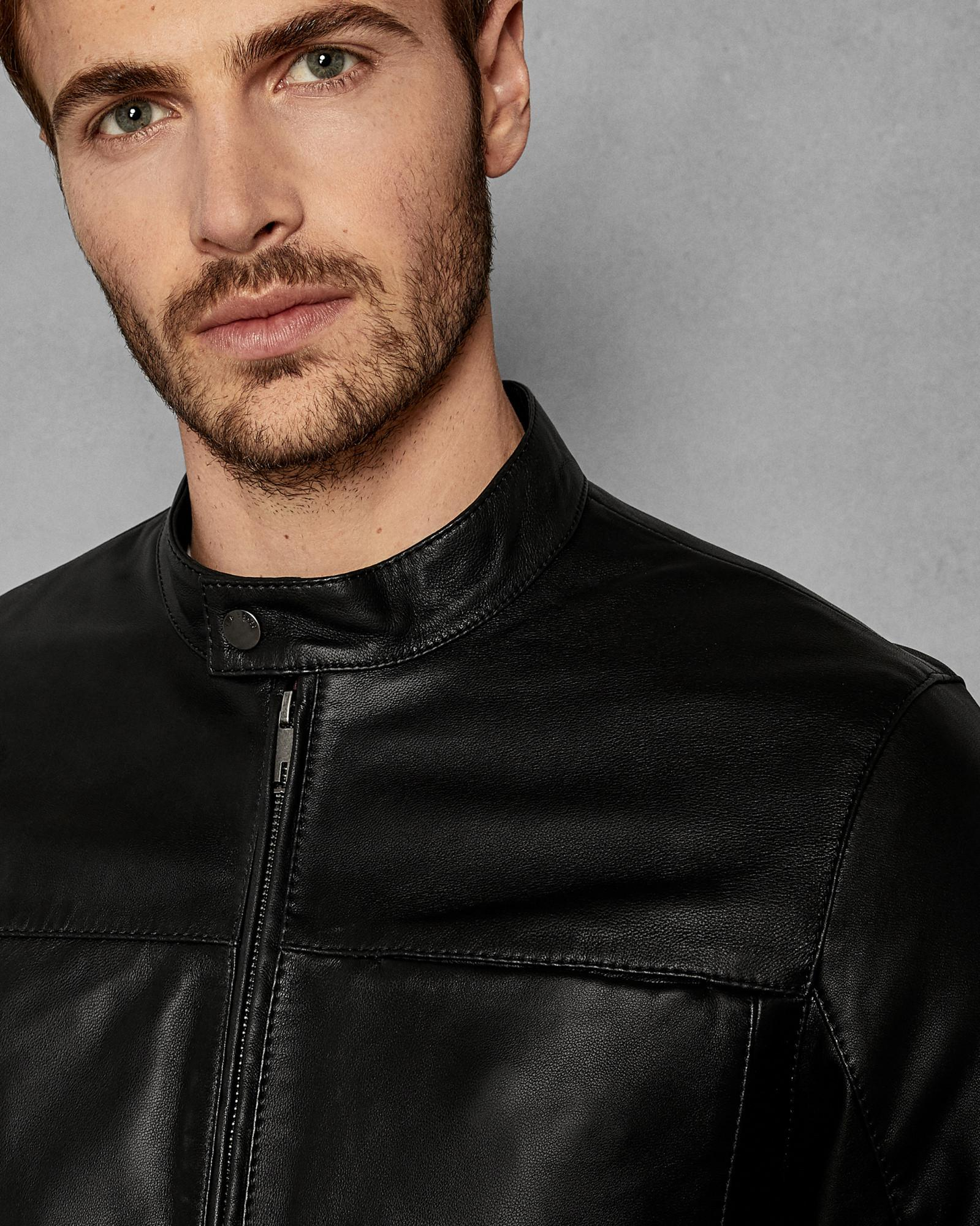 bd51da936 Ted Baker Leather Jacket in Black for Men - Lyst