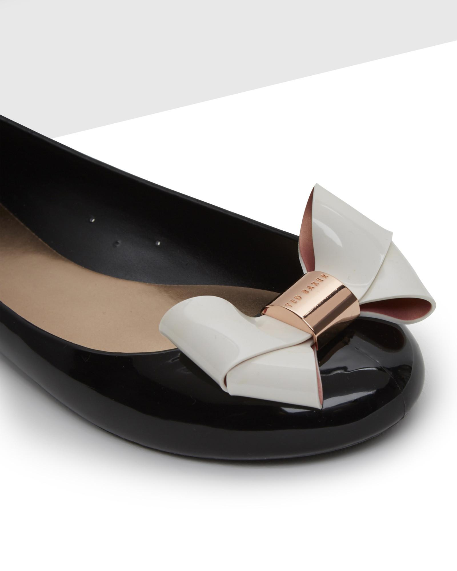 133decb5c6a19 Ted Baker Large Bow Jelly Pumps in Black - Lyst